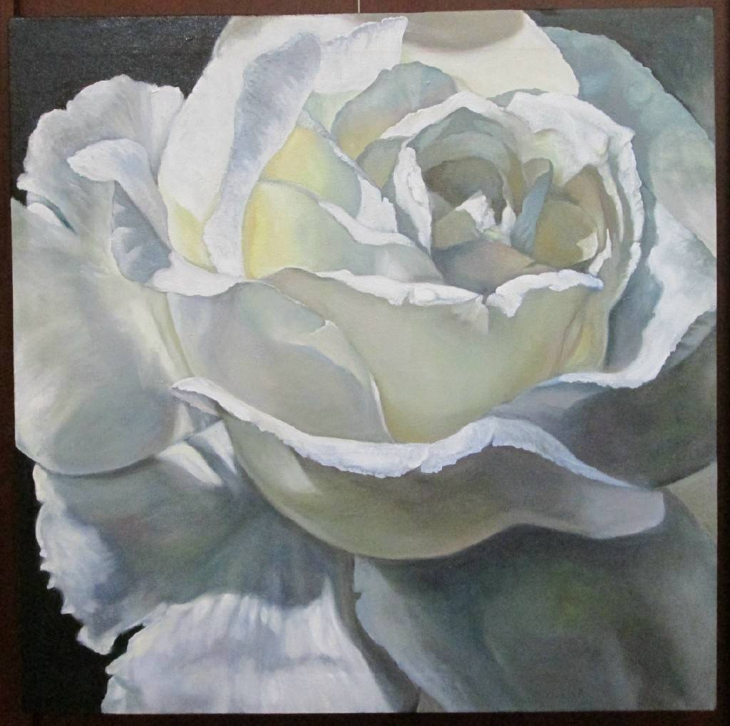 Marianne Andersen's White Rose is among the works on display at the 10th annual Arts in Bartlett Member Exhibit, which runs through March 8, at the Bartlett Village Hall 2nd Floor Gallery.