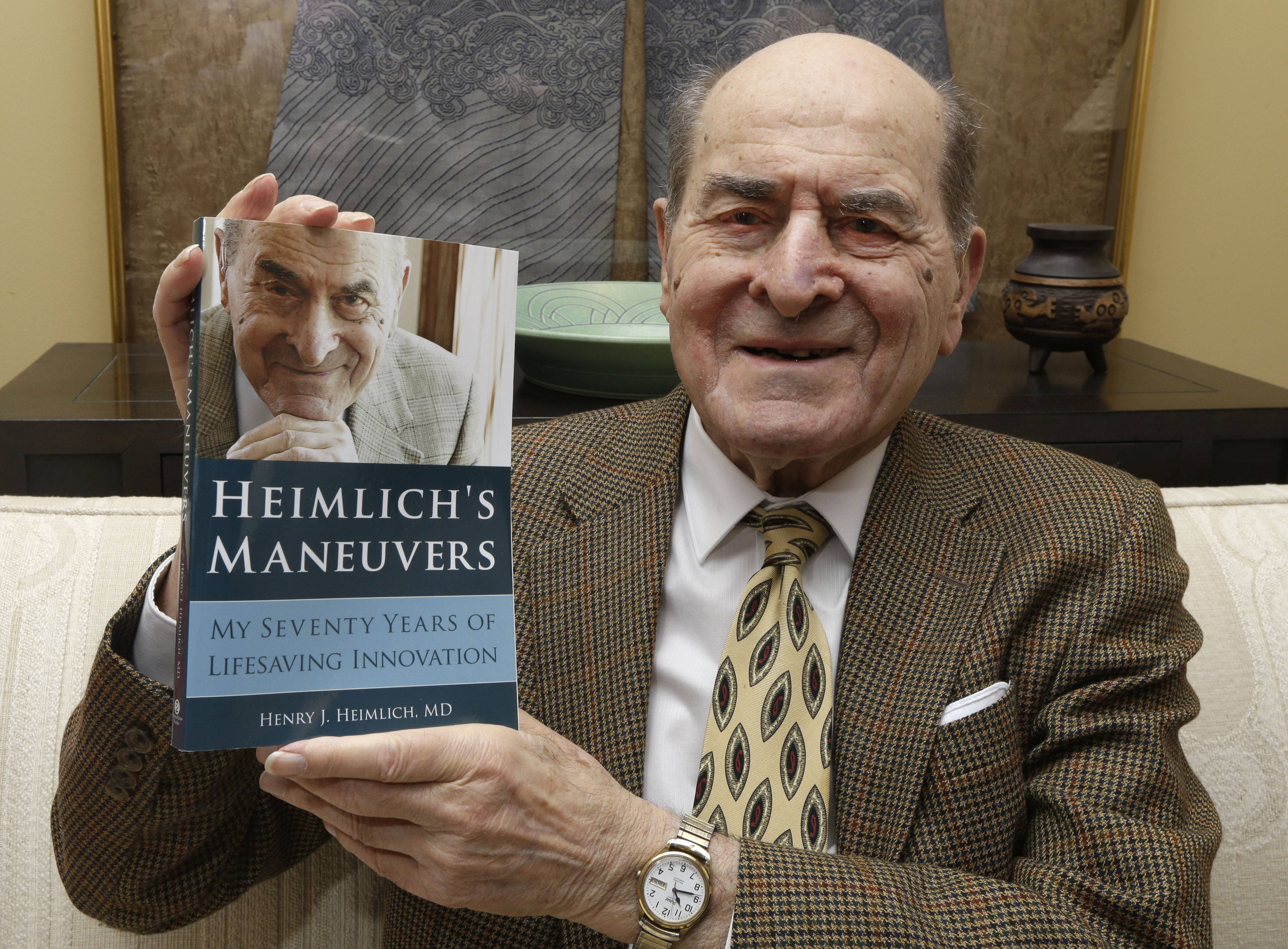 Dr. Henry Heimlich, who is known for developing the Heimlich maneuver that has been used to clear obstructions from the windpipes of choking victims around the world for four decades, has just released his memoir.