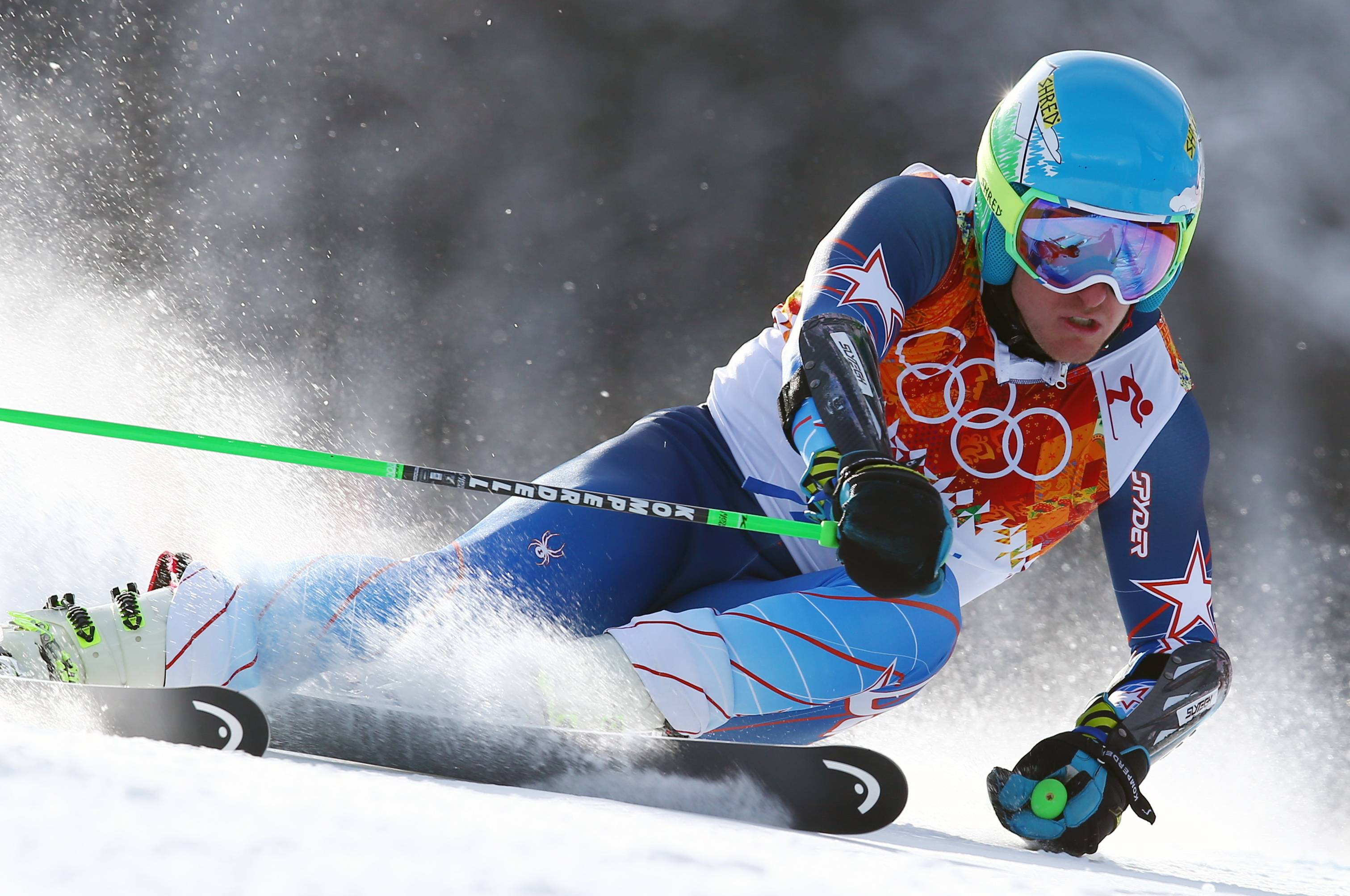 Gold medal winner Ted Ligety of the United States skis Wednesday during the second run of the men's giant slalom at the Sochi 2014 Winter Olympics in Krasnaya Polyana, Russia.