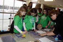 Fifth- and sixth-grade students from Districts 15 and 54 participate in hand-on activities during the District 211 GEMS conference at Conant High School in Hoffman Estates.