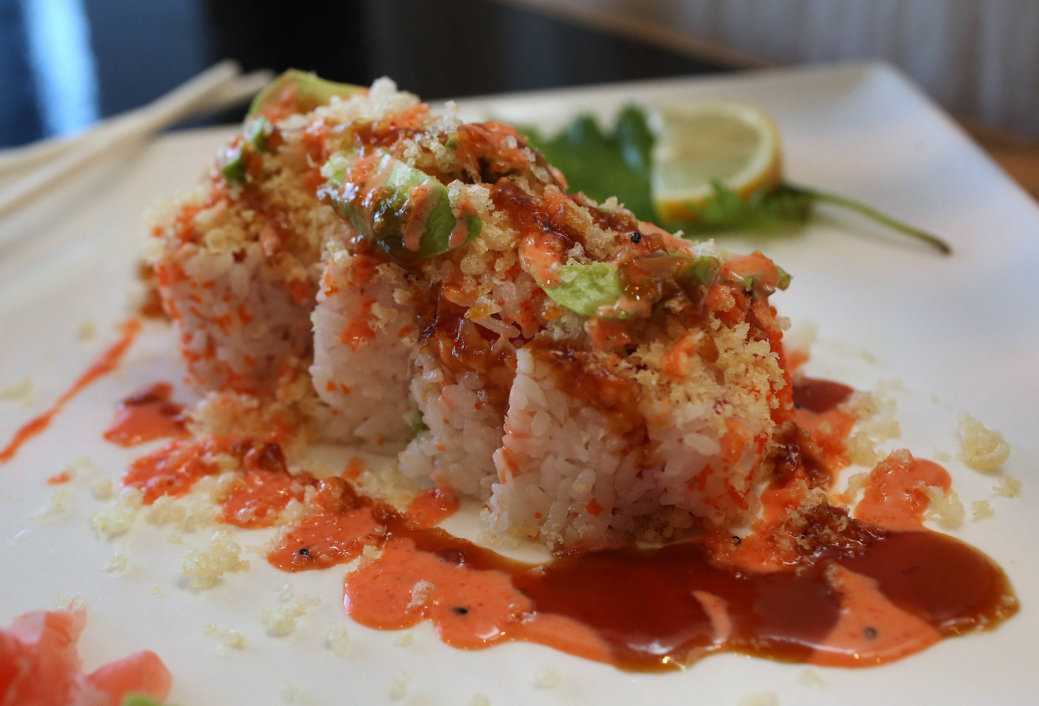 The Crispy Tuna Roll is a standout on the menu at Hayashi Japanese Restaurant in Gurnee.