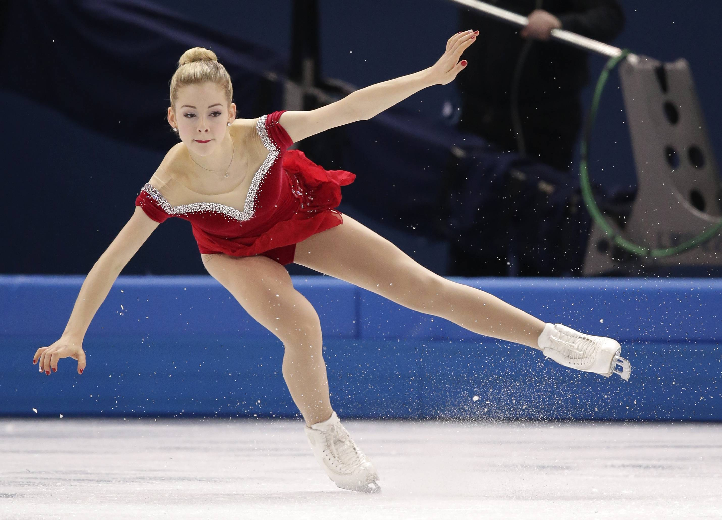 Gracie Gold of the United States competes in the women's short program figure skating competition at the Iceberg Skating Palace during the 2014 Winter Olympics, Wednesday, Feb. 19, 2014, in Sochi, Russia.
