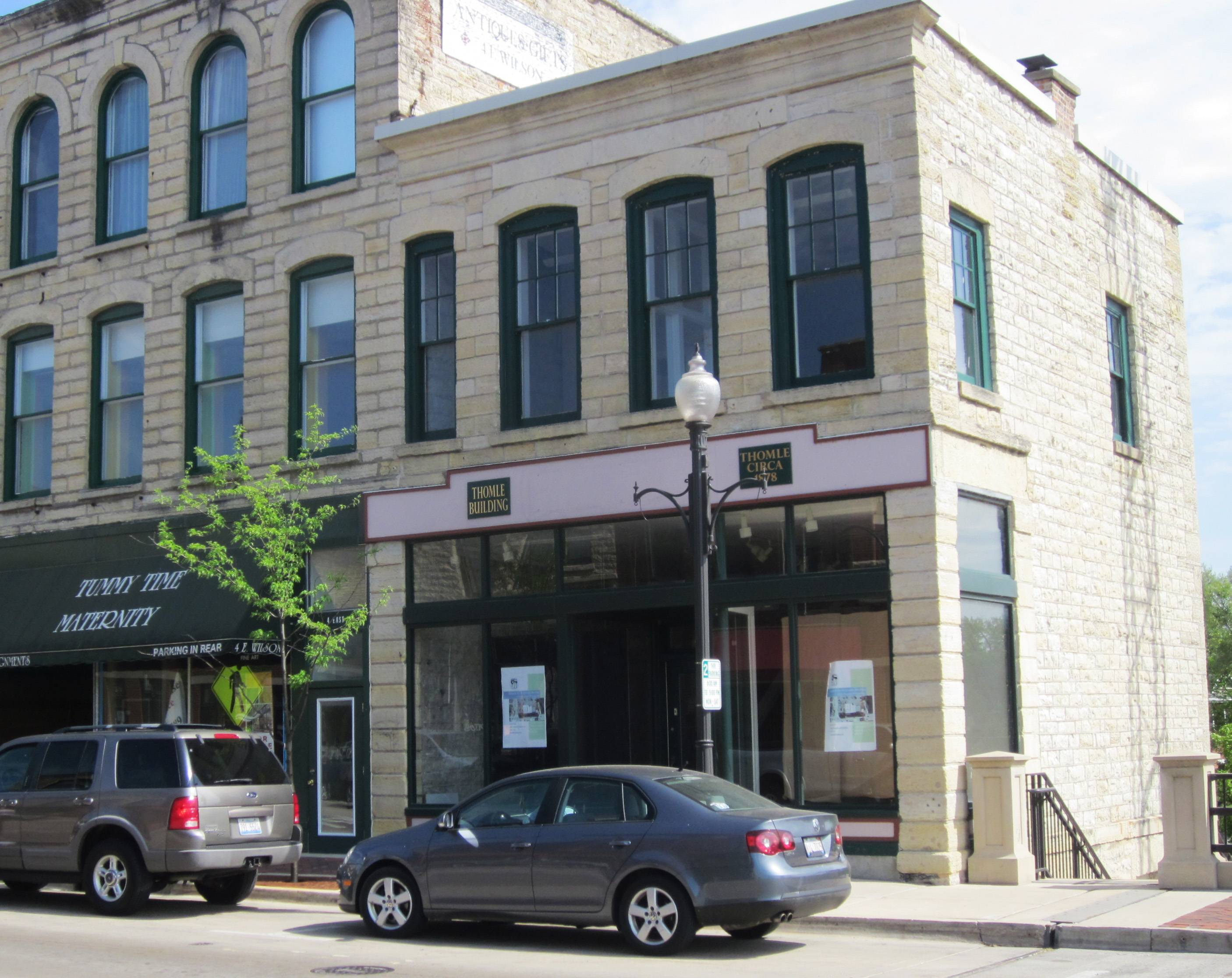 A St. Charles development firm has proposed combining the city-owned Thomle Building, 2 E. Wilson St. in Batavia, and the privately owned building next door, to create restaurant and residential space. It is seeking money from the city to do so.