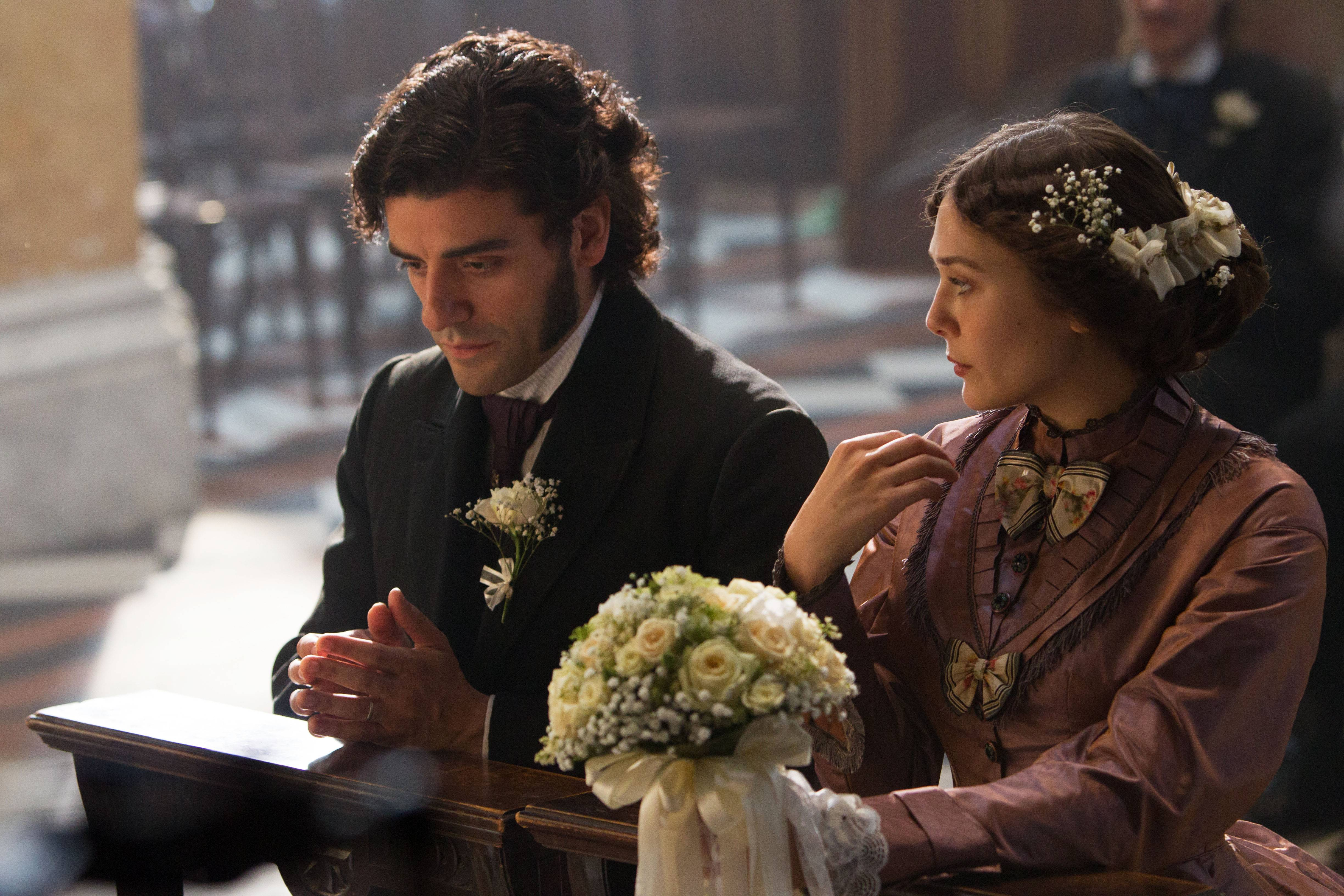 "Hunky Laurent LeClaire (Oscar Isaac) and the married Therese Raquin (Elizabeth Olsen) engage in some fatal hanky-panky in Charlie Stratton's ""In Secret."""