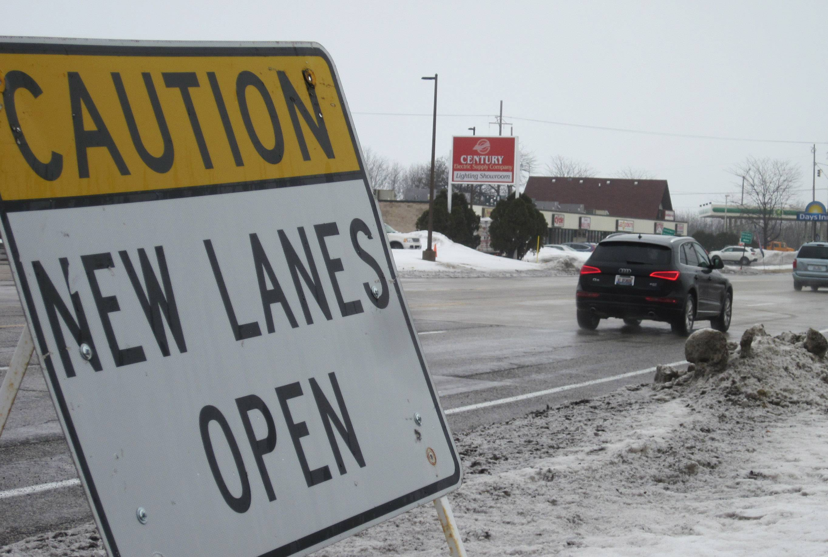 Traffic flows more smoothly Thursday as all but one of the new lanes on Route 137 east and west through the intersection of Milwaukee Avenue are open to traffic.