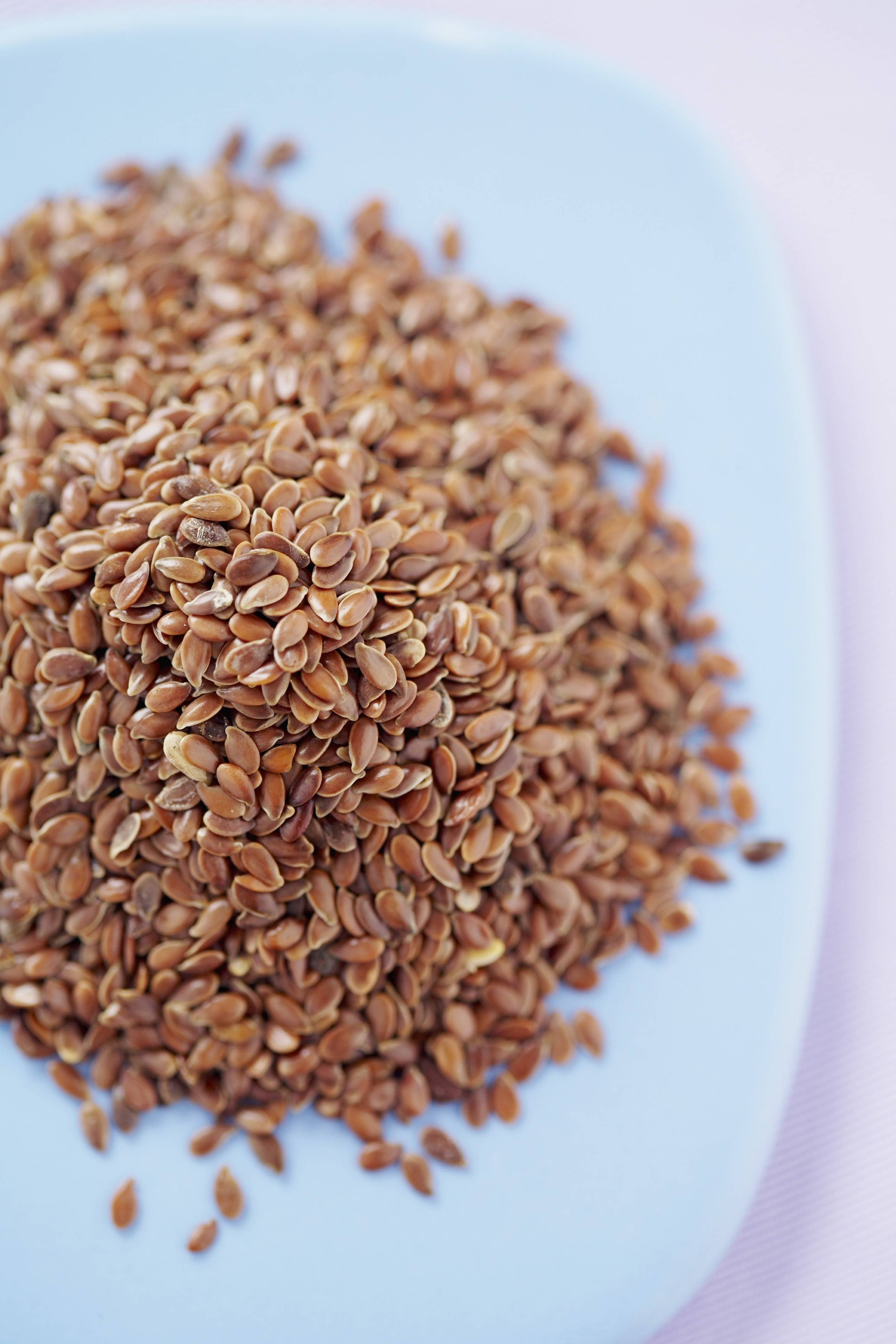 Flaxseed can be ground and added to foods such as yogurt or cottage cheese.