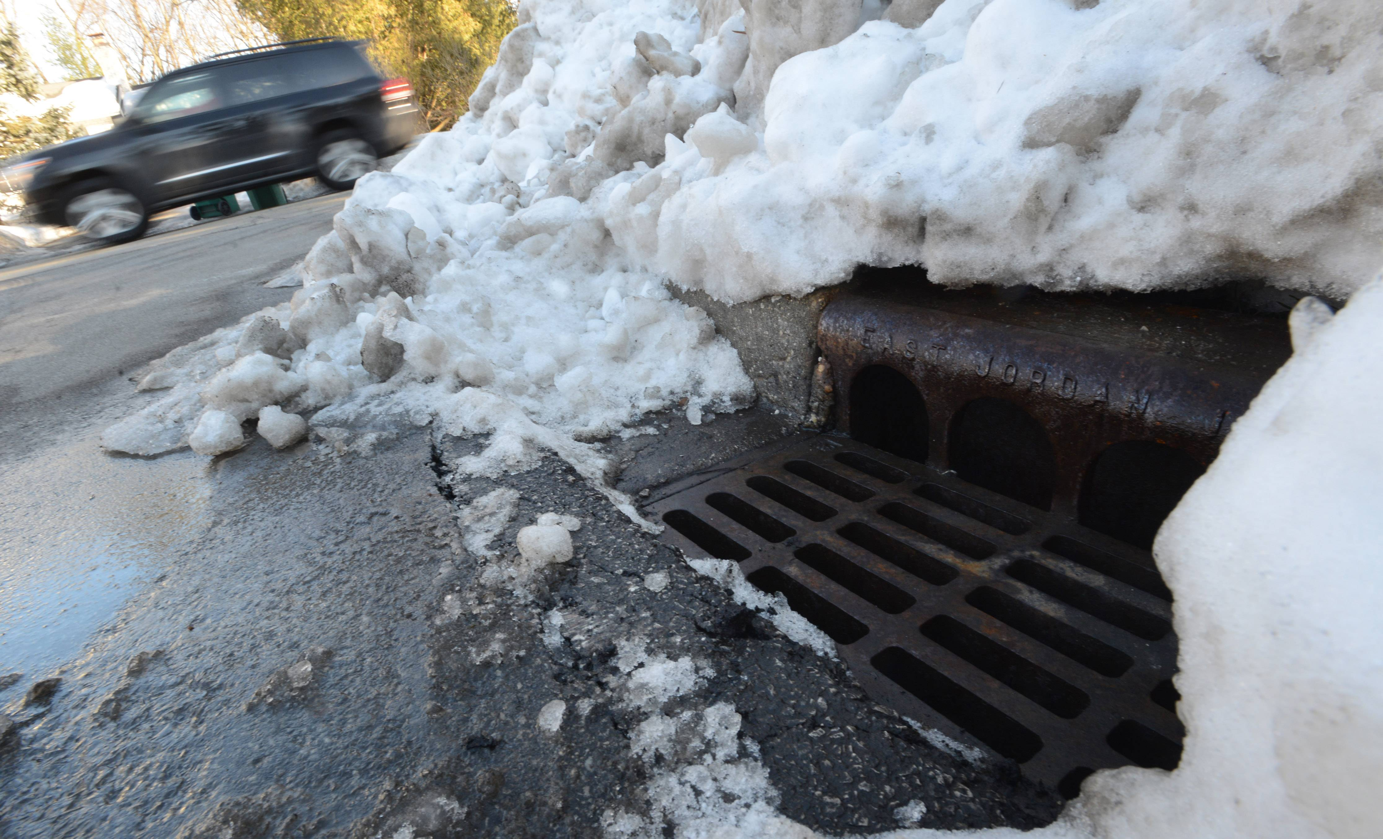 Lincolnshire public works crews have been working since Tuesday to clear storm drains.