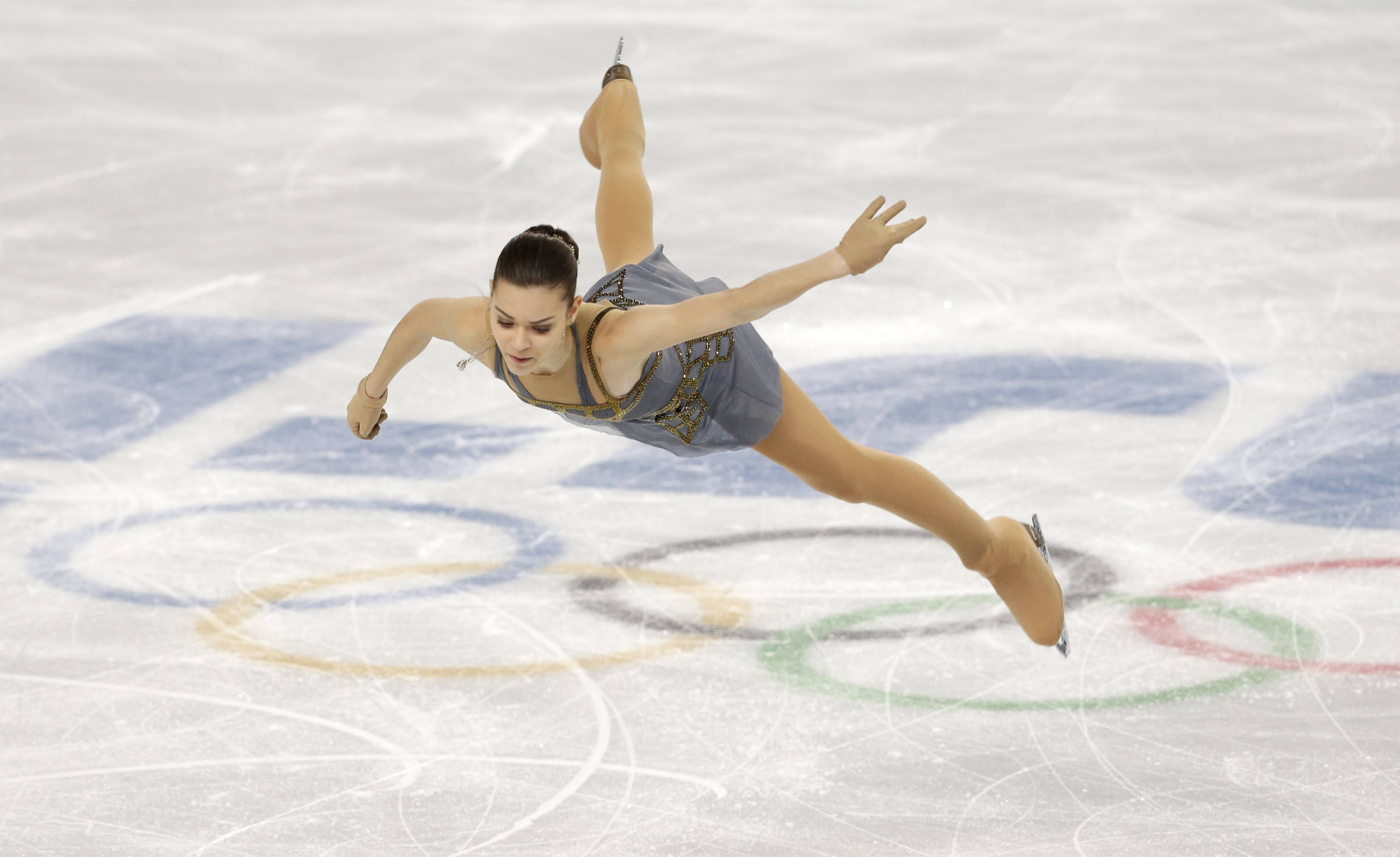 Adelina Sotnikova of Russia competes in the women's free skate figure skating finals.