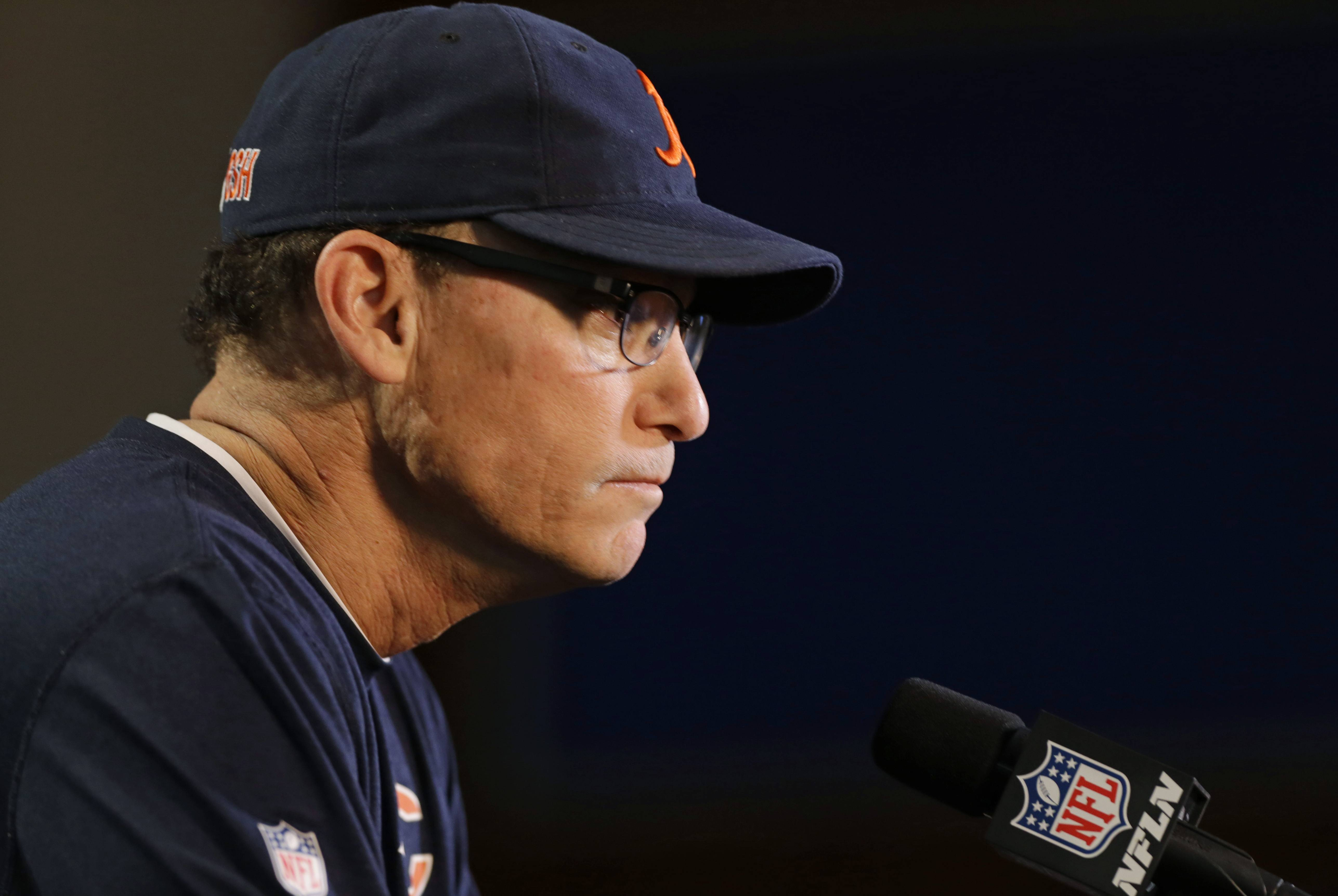 At the NFL Scouting Combine on Thursday, Chicago Bears head coach Marc Trestman said he's excited to see how well Shea McClellin performs as he switches from defensive end to lineback next season.