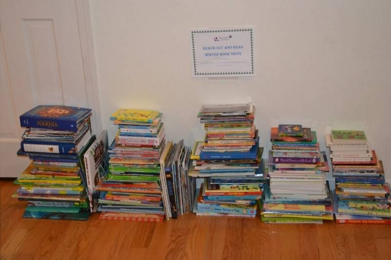 "Lake Shore Pediatrics' Winter Book Drive collected more than 430 books for the ""Reach Out and Read"" program at the Ann & Robert H. Lurie Children's Hospital of Chicago."