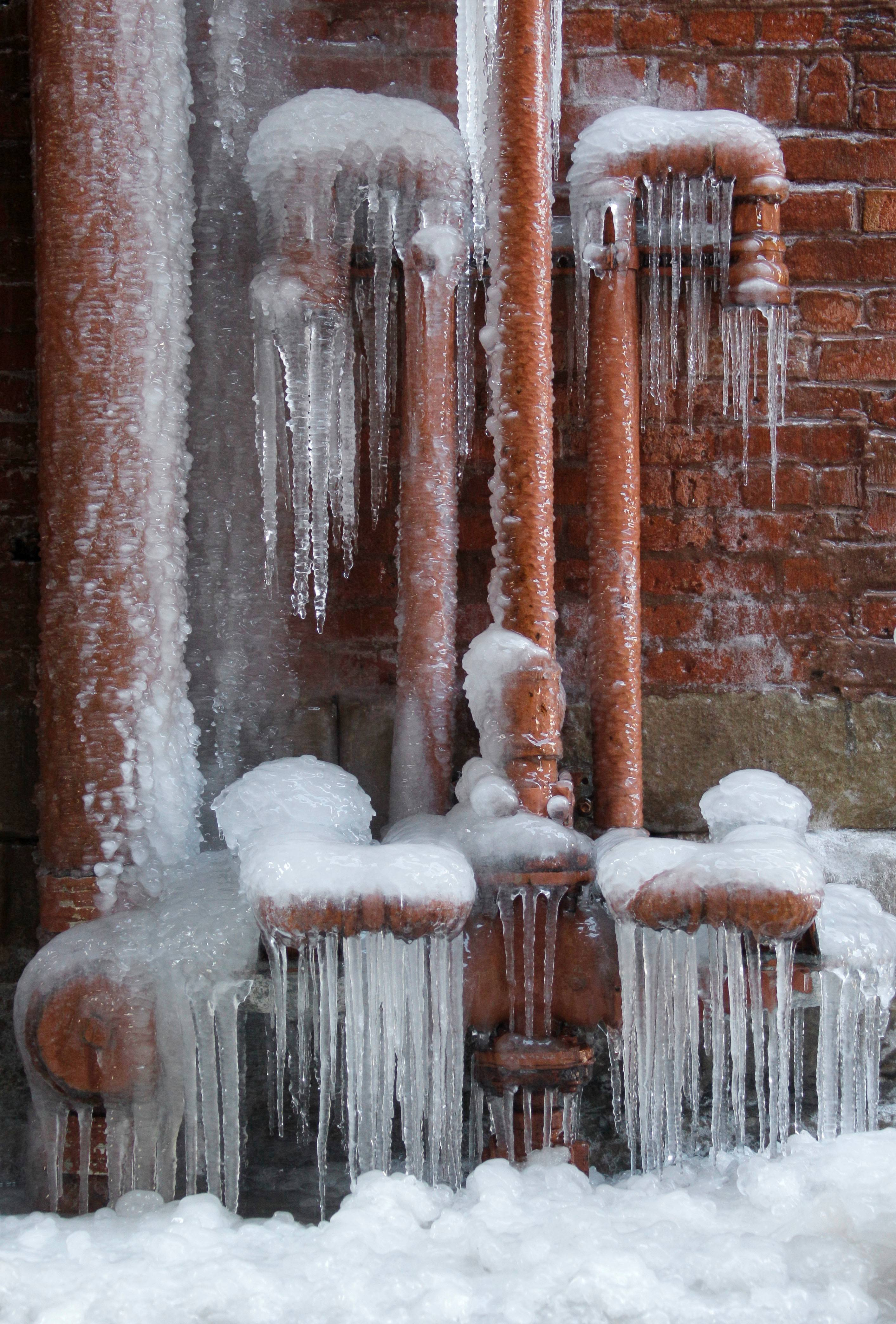 Ice coats leaking pipes in a downtown Cleveland alley. With much of the nation gripped in record cold at some point this winter, homeowners have had to deal with pipes freezing, and then bursting.