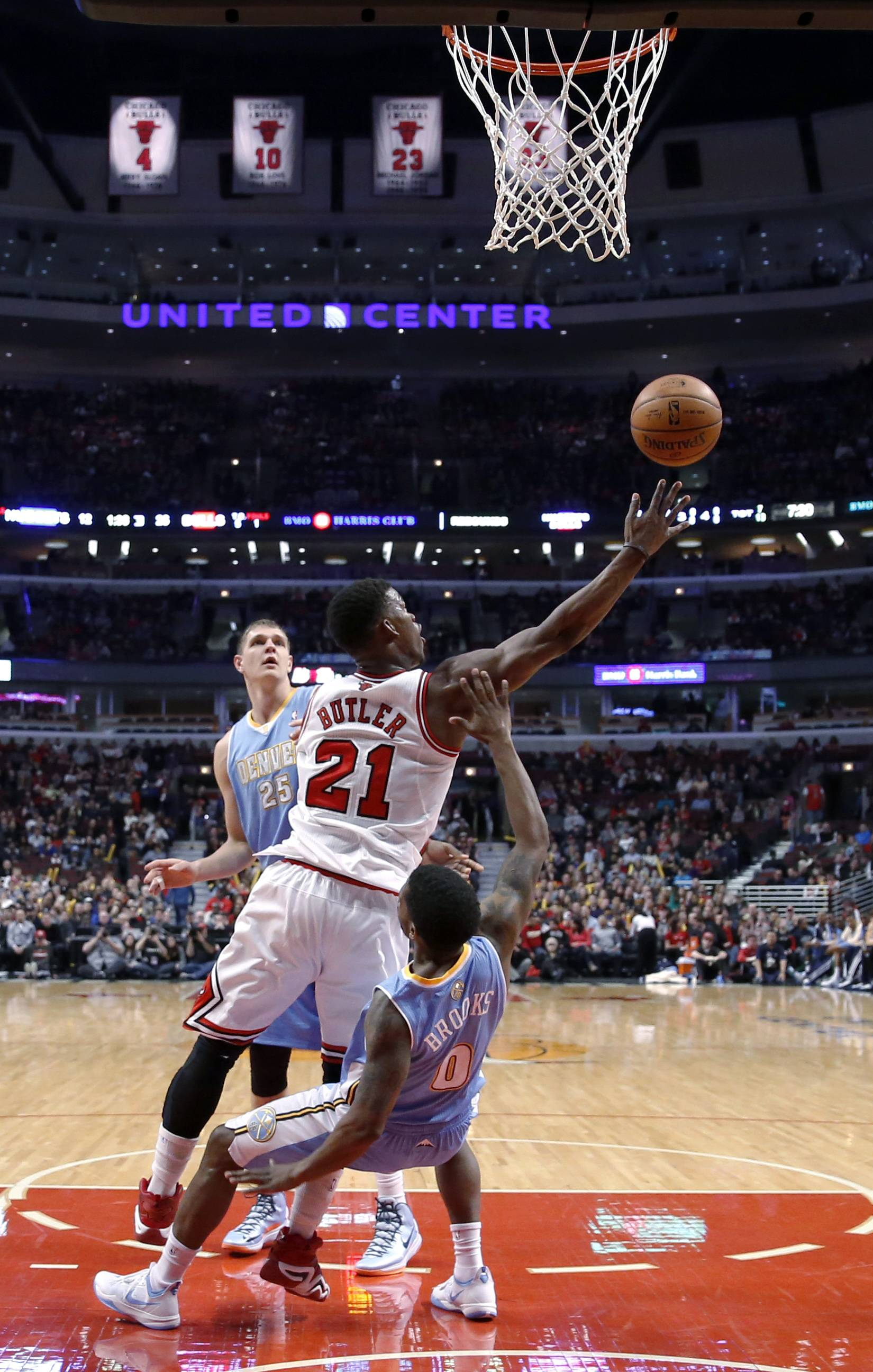 D.J. Augustin had 22 points and eight assists, and the Bulls routed the Denver Nuggets 117-89 Friday night for their fifth consecutive victory. Rookie Tony Snell added a career-high 20 points as the Bulls put seven players in double figures. Taj Gibson had 15 points and 10 rebounds, and Joakim Noah finished with 14 points, 11 boards and five assists.