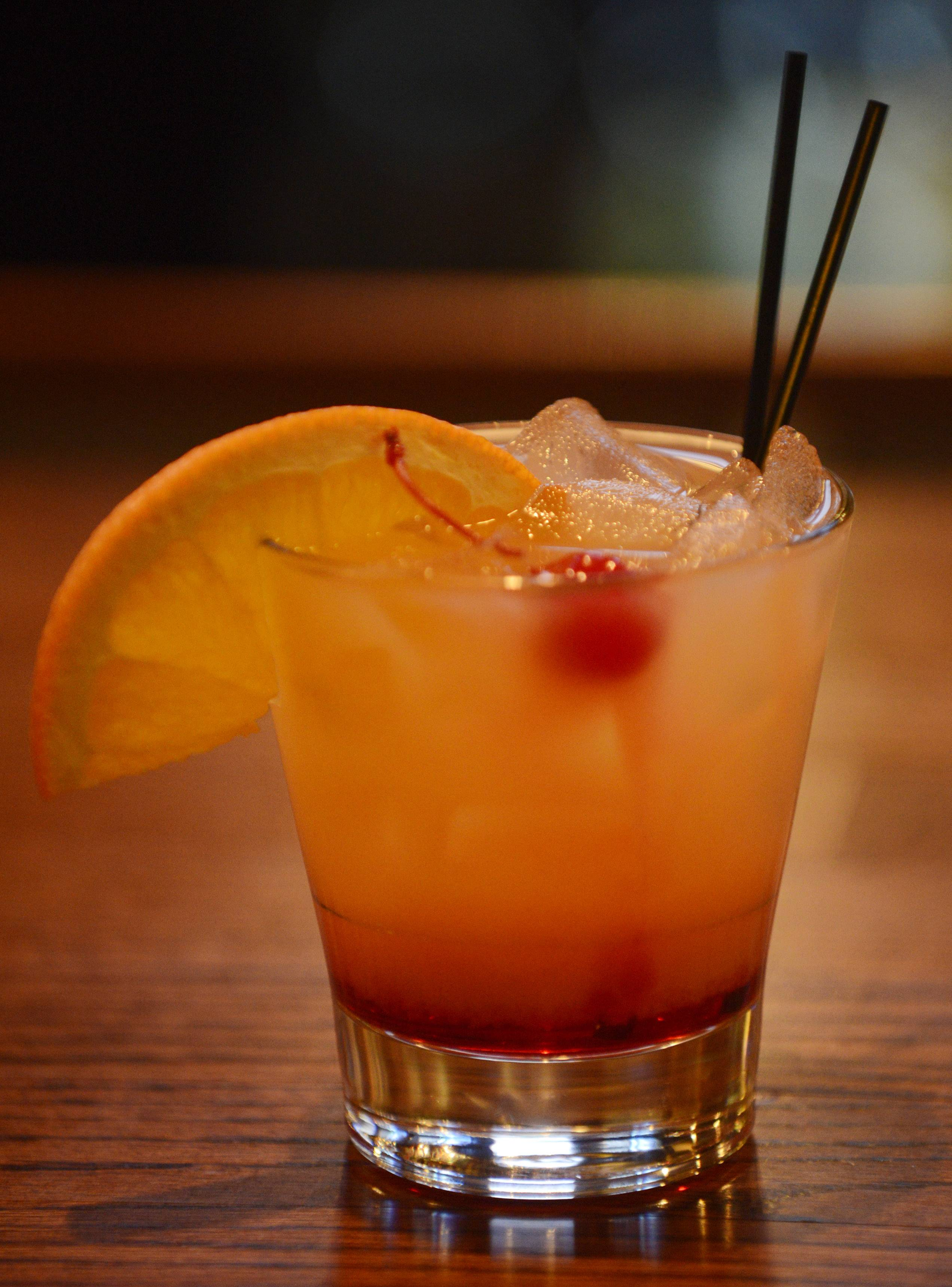 A tequila sunrise offers an alternative to beer at Fireside Ale House in Streamwood.