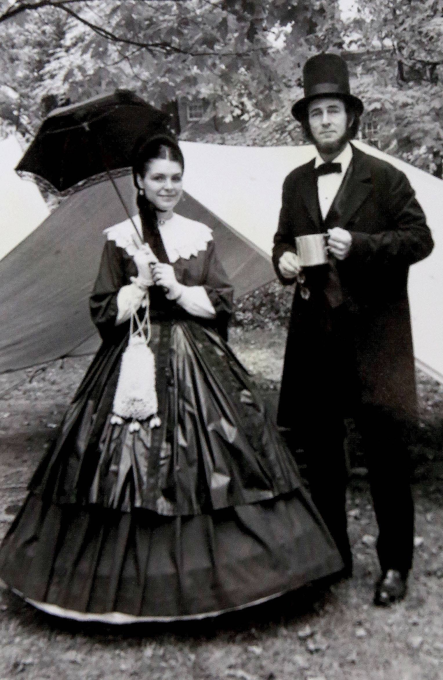 Max and Donna Daniels portray President and Mrs. Lincoln early in their careers.