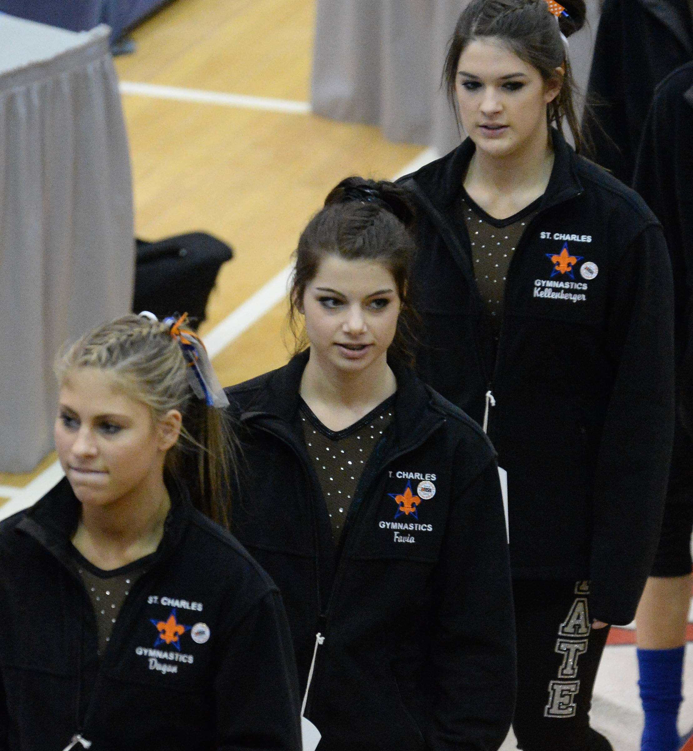 Images from Girls State Gymnastics Finals held at Palatine High School on Friday, February 21, 2014.