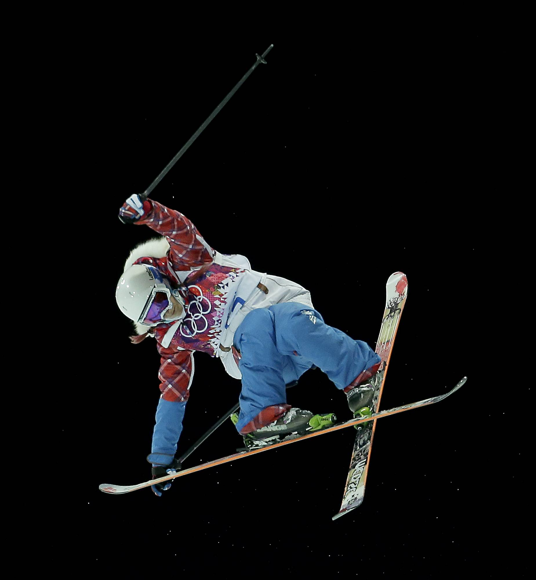 Silver medalist France's Marie Martinod competes Thursday in the women's ski halfpipe finals at the Rosa Khutor Extreme Park during the 2014 Winter Olympics in Krasnaya Polyana, Russia.