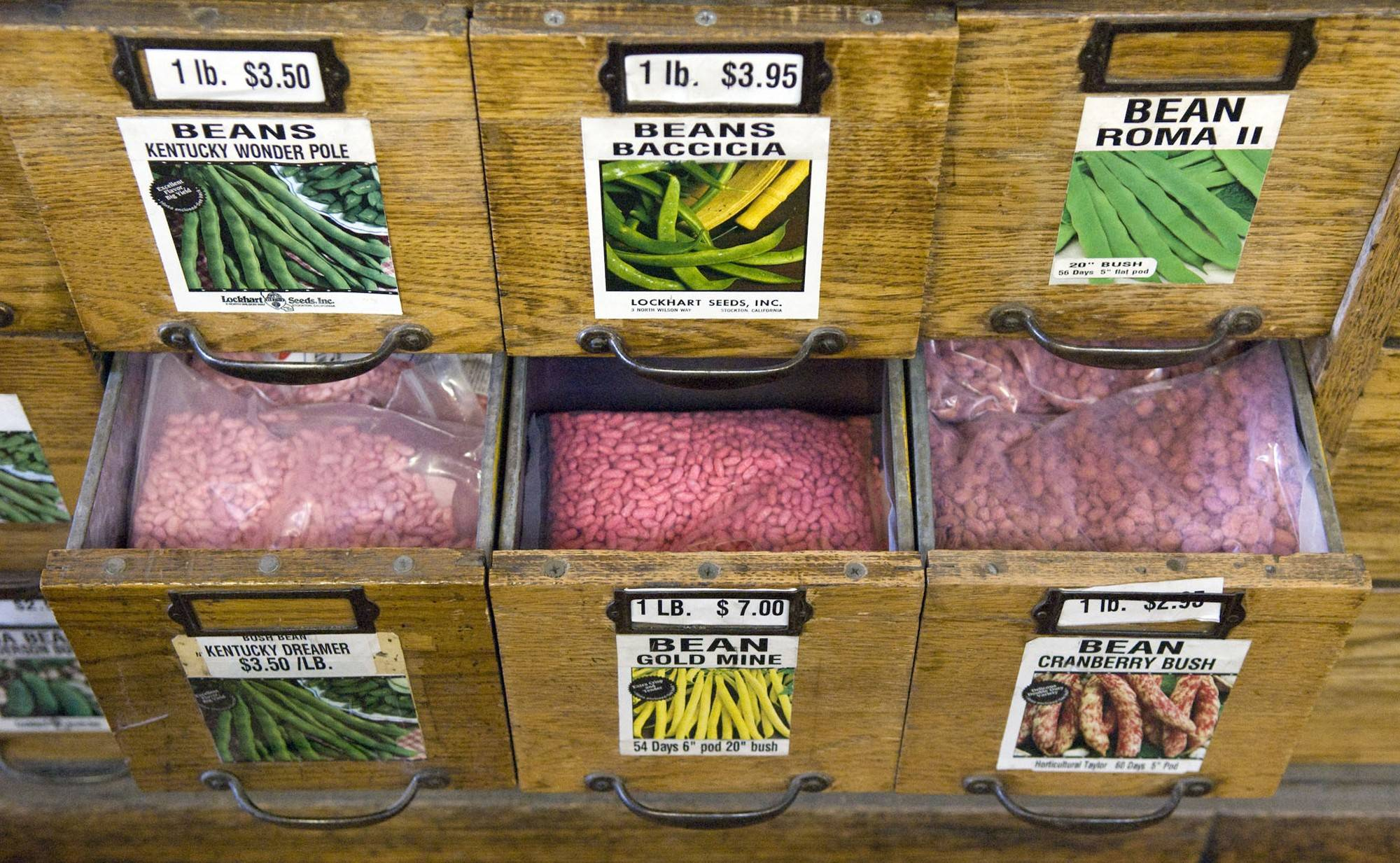 Numerous varieties of prepackaged seeds can be purchased at Lockhart Seeds.