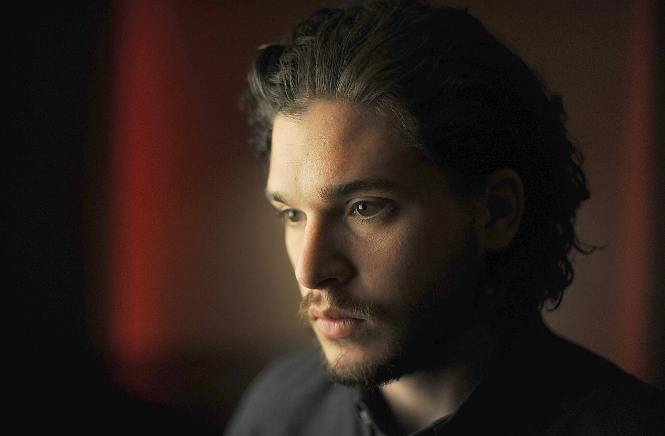 "Kit Harington, part of the ensemble case of HBO's successful fantasy series ""Game of Thrones,"" is headlining his first movie, the disaster epic ""Pompeii,"" as the gladiator Milo."