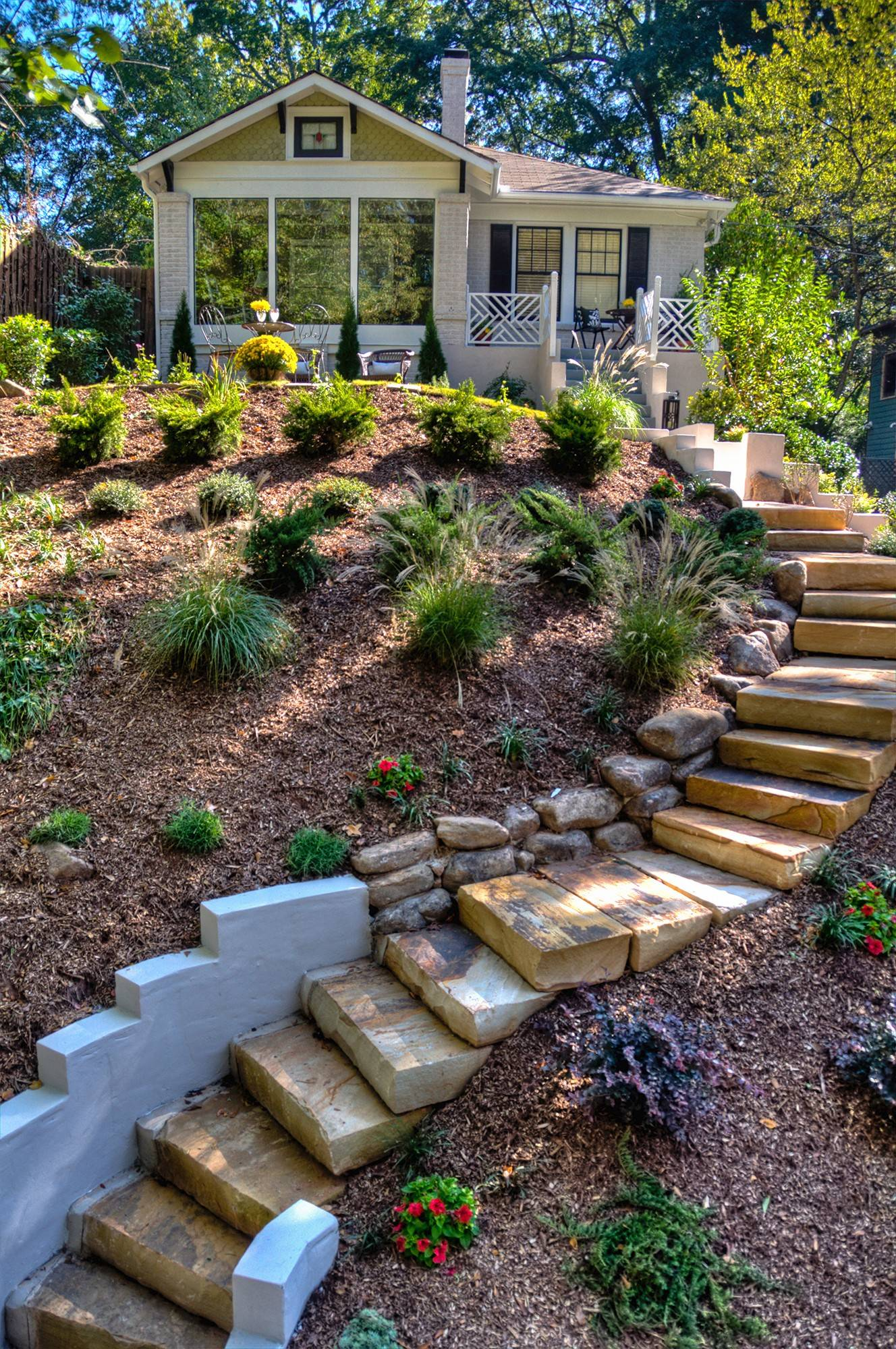"The exterior of this Atlanta home was designed by John Gidding, host of HGTV's ""Curb Appeal."""