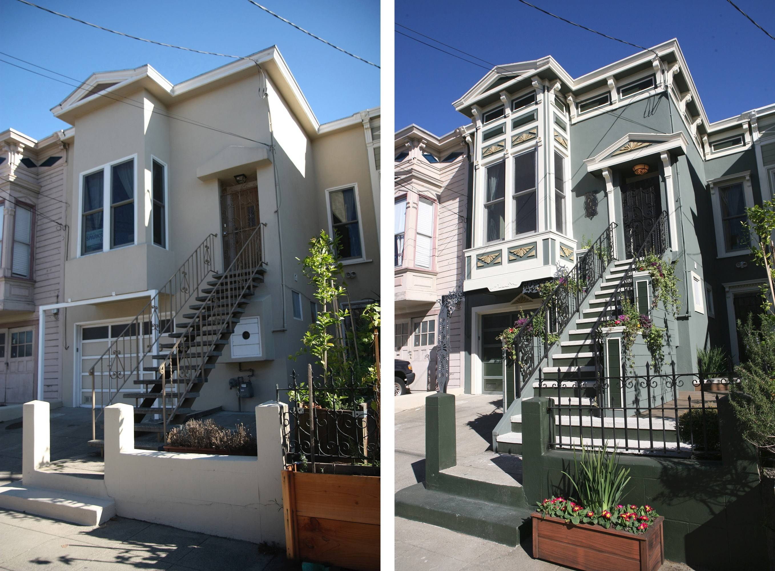 Before and after: John Gidding turned dull into dazzling with the renovation of this San Francisco rowhouse.