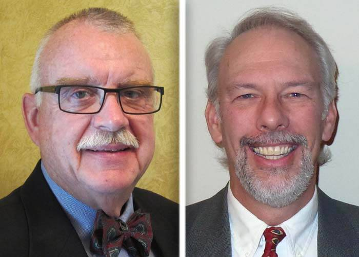 John Martin, left, and Thomas Matson are candidates in the race for Kane County Board District 11.