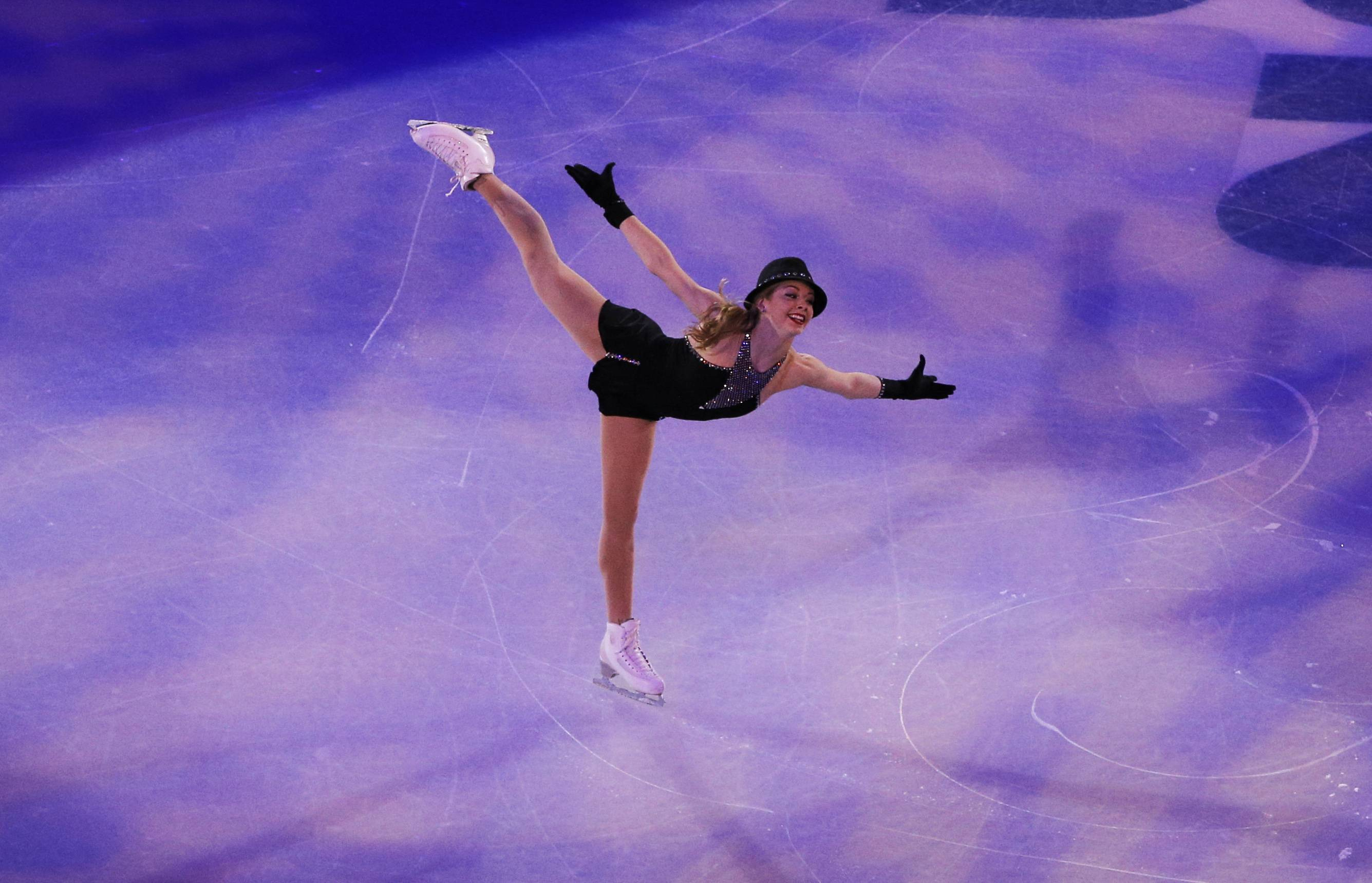Gracie Gold of the United States performs during the figure skating exhibition gala at the Iceberg Skating Palace during the 2014 Winter Olympics, Saturday, Feb. 22, 2014, in Sochi, Russia.
