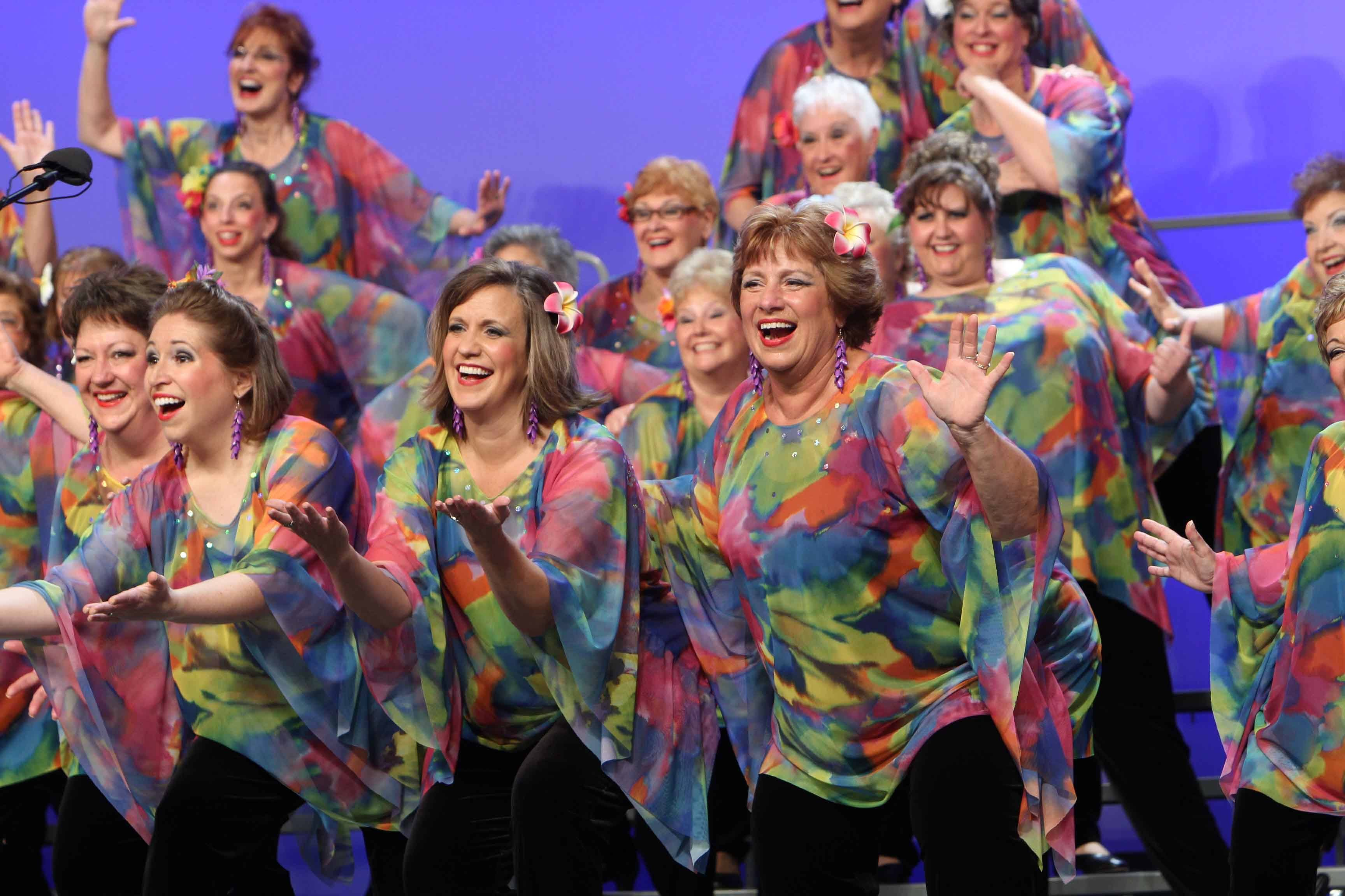 "The Choral-Aires Chorus invite you to its 27th annual fashion show and luncheon with the theme ""Singin' in the Rain."""