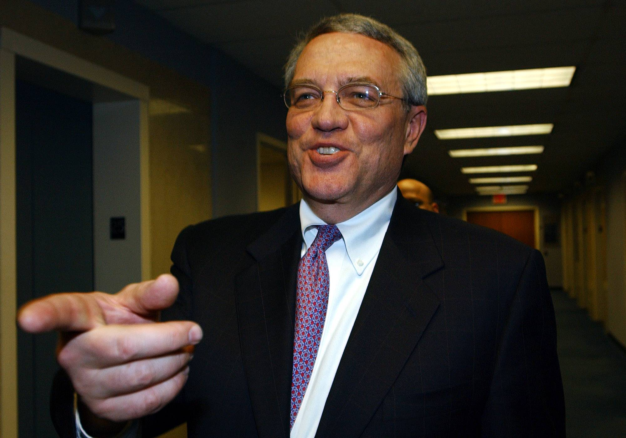Leo Hindrey Jr., chairman and CEO of the YES Network speaks after a media conference in New York. Hindery, who wrote a book that attempts to use CEO know-how to resolve U.S. policy problems, advocates for progressive mainstays, including stronger labor protections, fewer tax loopholes and more transparency in political spending.
