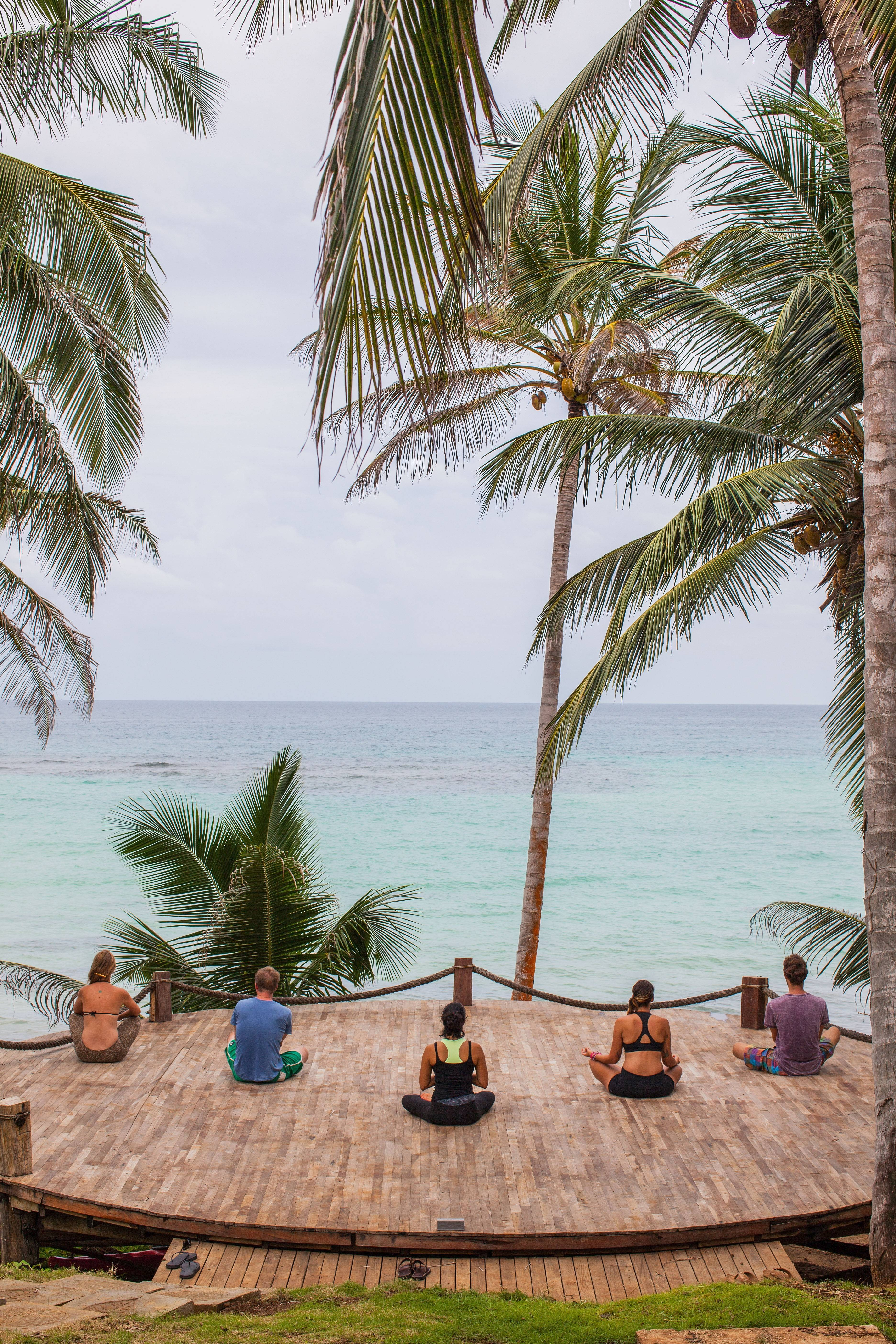 Guests do yoga at Nicaragua's Yemaya Island Hideaway and Spa. Nicaragua is one of the hot travel destinations this year.