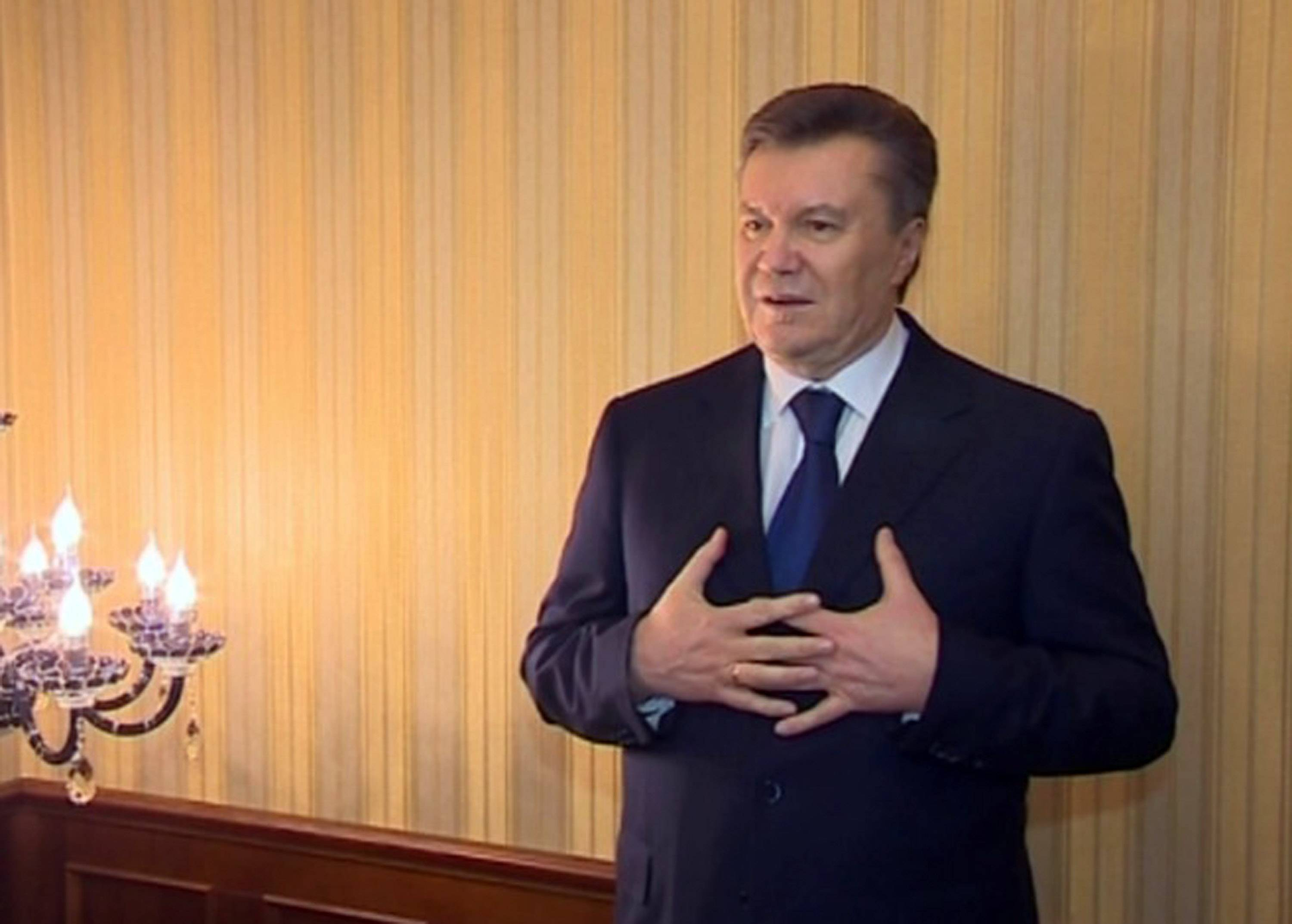 Ukraine President Viktor Yanukovych fled Kiev over the weekend and his whereabouts are unknown now. But he left behind evidence of a luxurious lifestyle at odds with the hardships many Ukrainians are suffering.