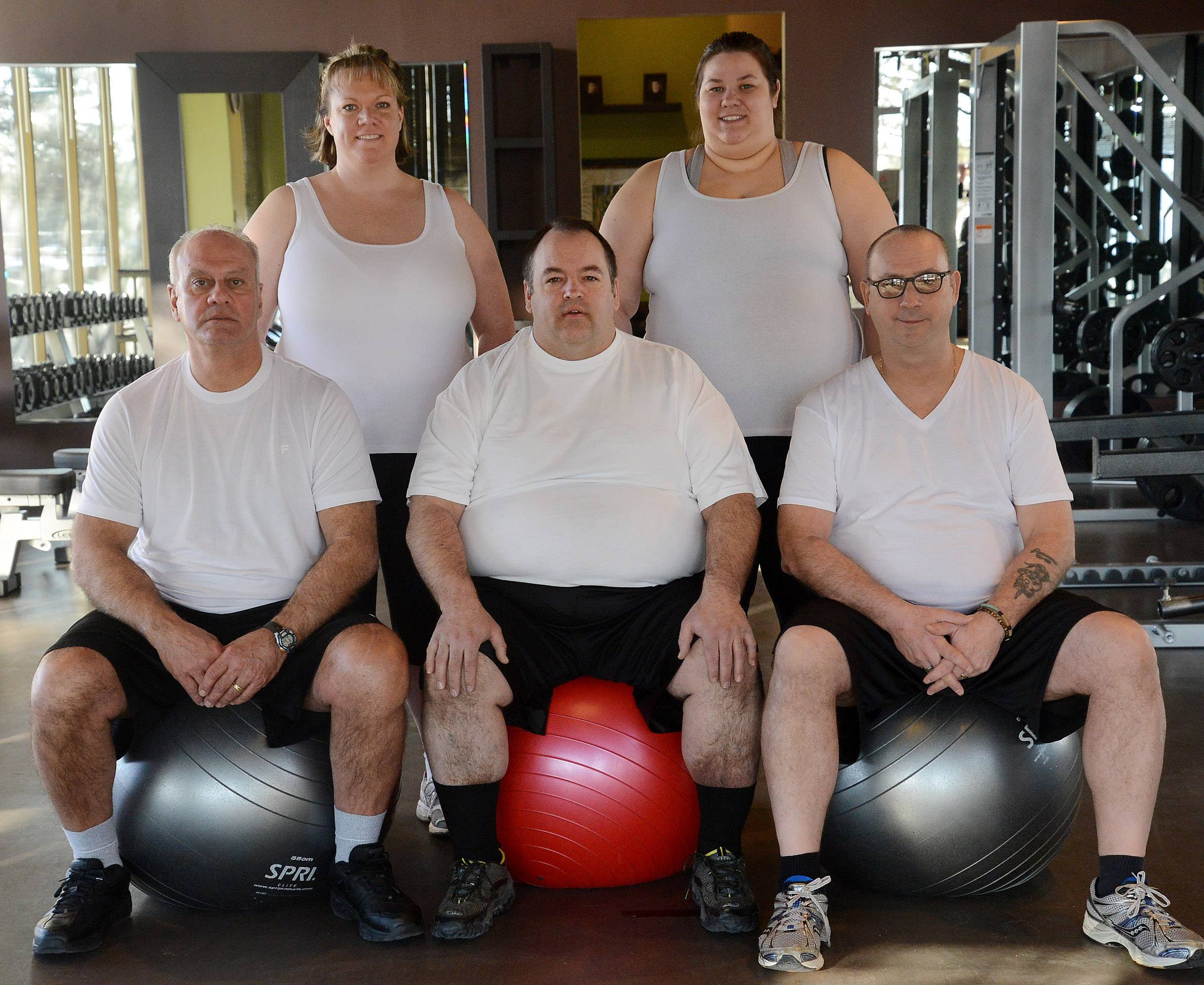 Introducing the 2014 Fittest Loser Challenge contestants: from left, Chris Kalamatas, Cheryl Seibert, John Bohanek, Allie Monroe and Tim Lange.