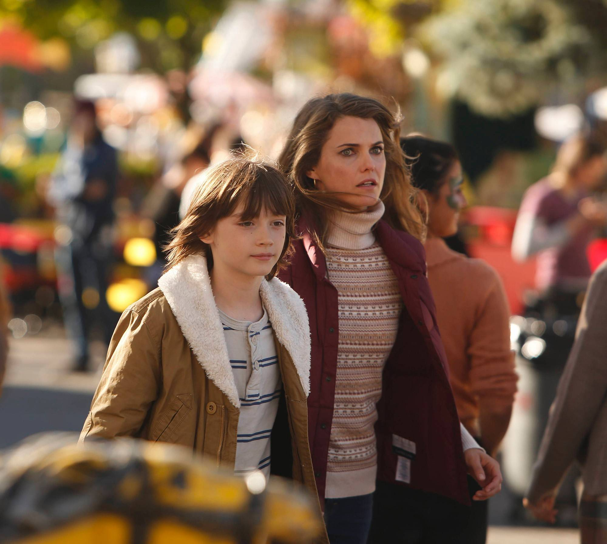 "Henry Jennings (Keidrich Sellati) has no idea that his mom, Elizabeth Jennings (Keri Russell), is really a spy in FX's ""The Americans."""
