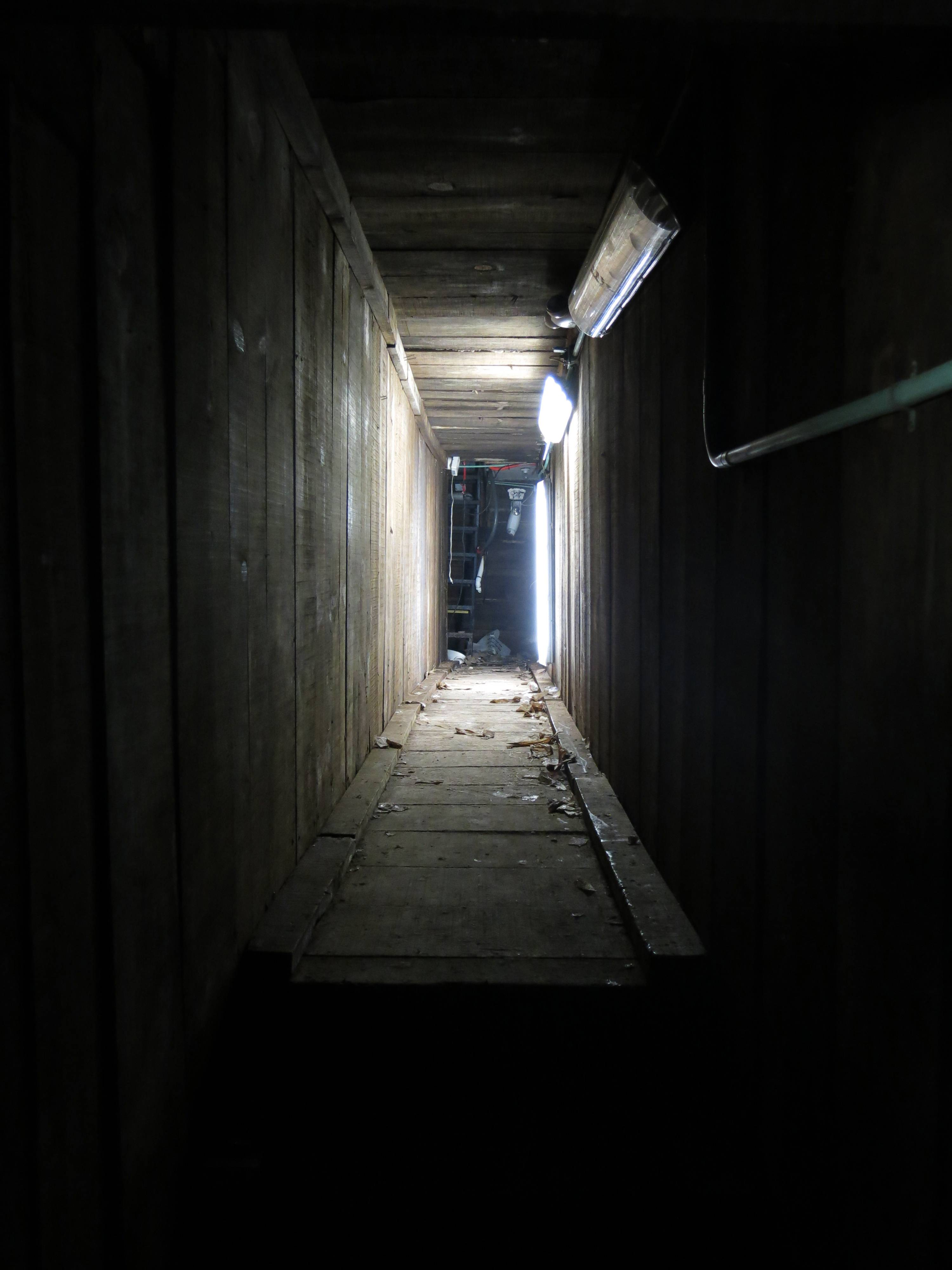 "An interconnected tunnel in the city's drainage system that infamous drug boss Joaquin Guzman Loera, ""El Chapo"" used to evade authorities is shown, in the city of Culiacan, Mexico. A day after troops narrowly missed infamous Guzman in Culiacan, one of his top aides was arrested. Officials said he told investigators that he picked up Guzman from a drainage pipe and helped him flee to Mazatlan but a wiretap being monitored by ICE agents in southern Arizona provided the final clue that led to the arrest."