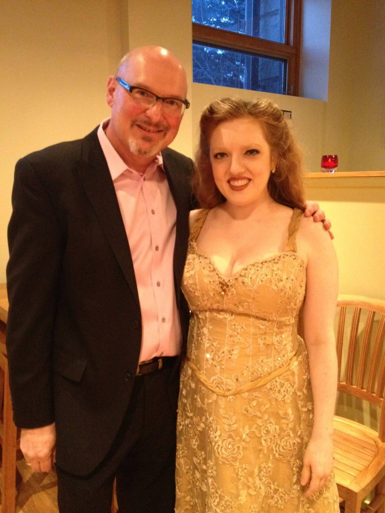 Violinist Rachel Barton Pine, shown with Roger Reupert, house manager for the Listening Room, recently performed to a sold-out crowd at the Crystal Lake venue.