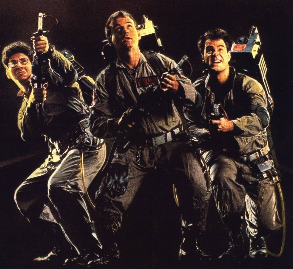 "Harold Ramis, left, cowrote ""Ghostbusters"" with costar Dan Aykroyd, right, and gave all his best lines to co-star Bill Murray, center."