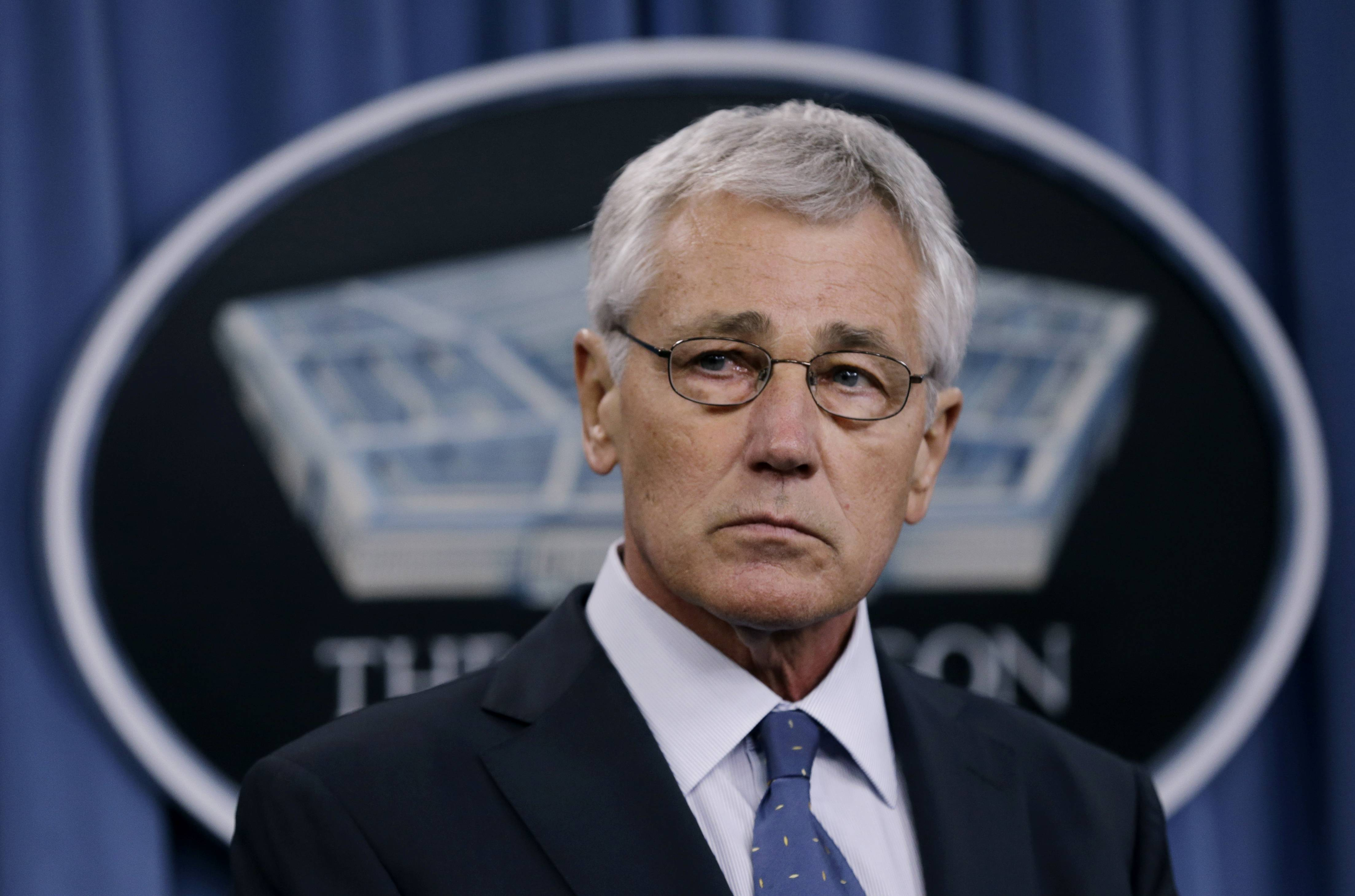 Defense Secretary Chuck Hagel outlined a five-year Pentagon budget Monday that would shrink Army forces to fewer than before the attacks of Sept. 11, 2001, while retiring older weapons including the U-2 spy plane and the A-10 attack aircraft.