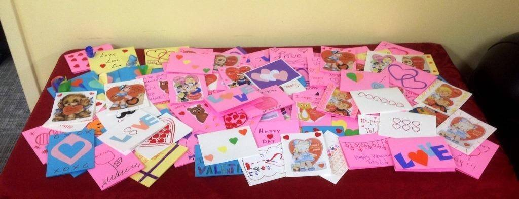 Employees of Northwestern College's Rosemont Administrative Office made 250 handmade Valentine's Day cards for seniors at a Des Plaines nursing home.