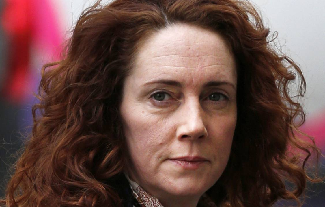 Former News of the World editor Rebekah Brooks arrives at the Old Bailey in London as the phone hacking trial continues Tuesday.