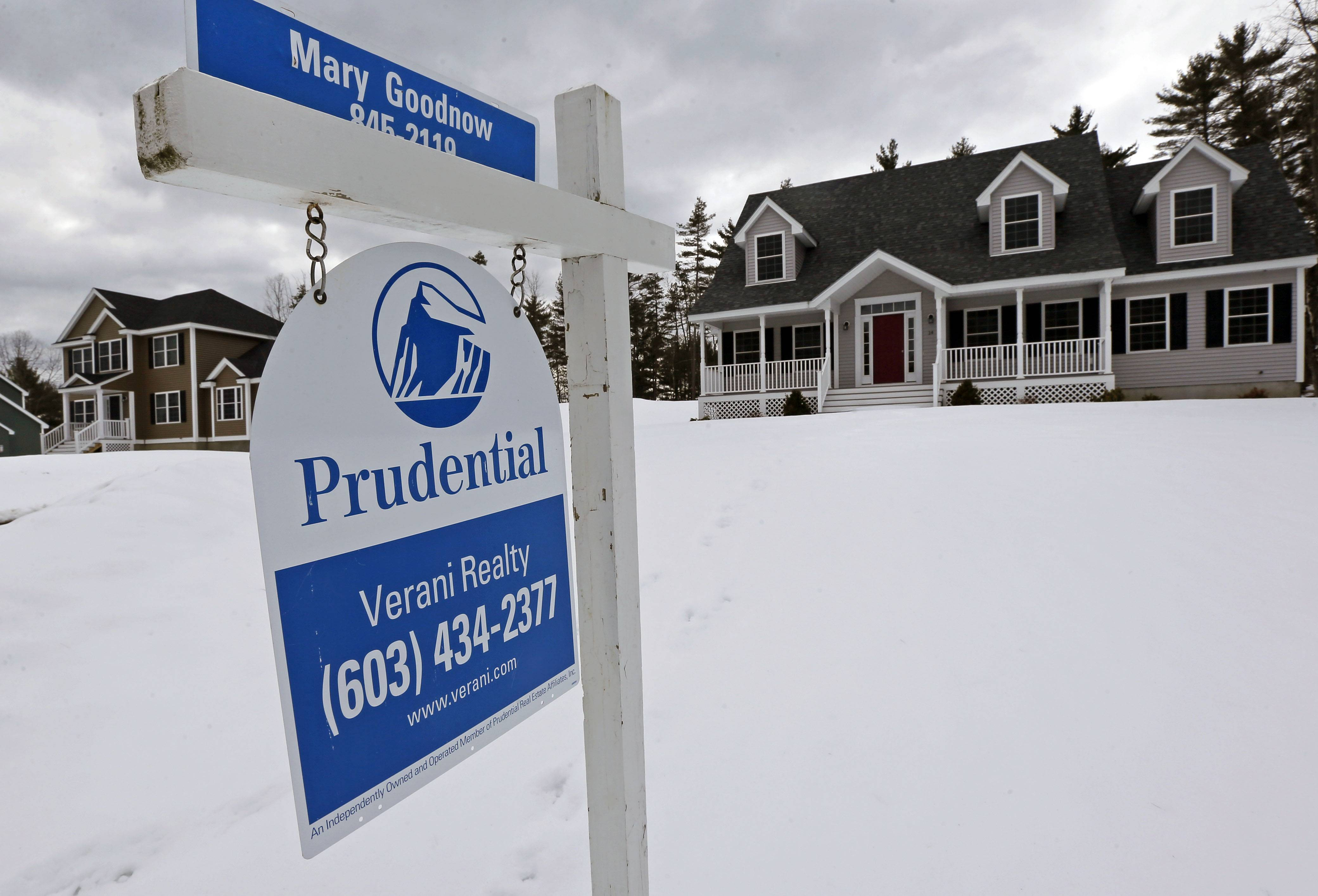 U.S. home prices fell for the second straight month in December as brutally cold weather, tight supply and higher costs slowed sales.