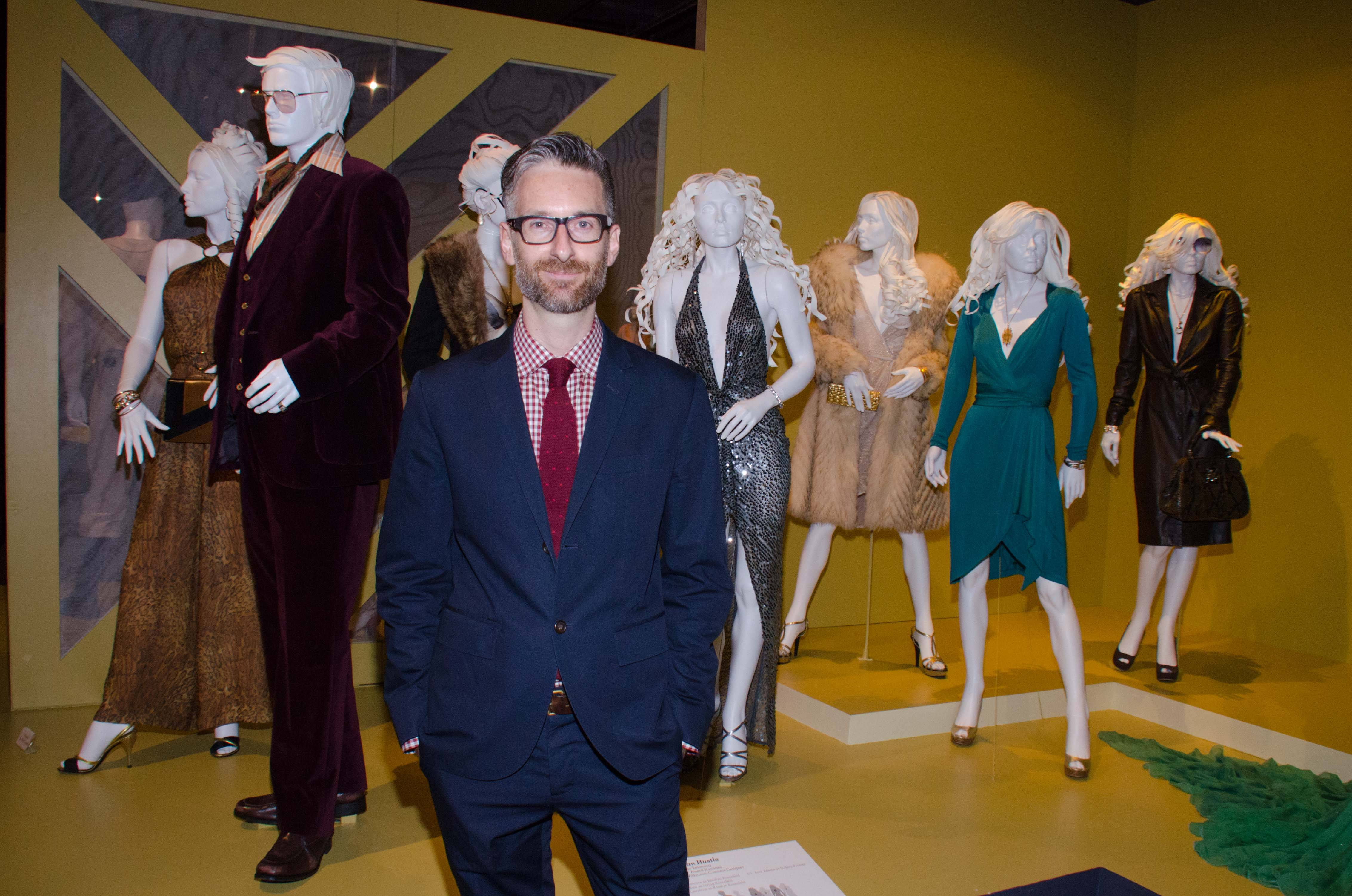"Costume designer Michael Wilkinson 's costumes for the film ""American Hustle"" are on display during the FIDM Museum's 22nd annual Art of Motion Picture Costume Design Exhibit in Los Angeles."