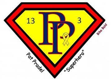 "Bike Bald, a Naperville group that raises money for children's cancer and community causes, is selling ""Pat Pradel Superhero"" T-shirts to raise money for the St. Baldrick's Foundation in honor of Naperville Mayor George Pradel's wife, Pat, who recently was diagnosed with stage four bone cancer."