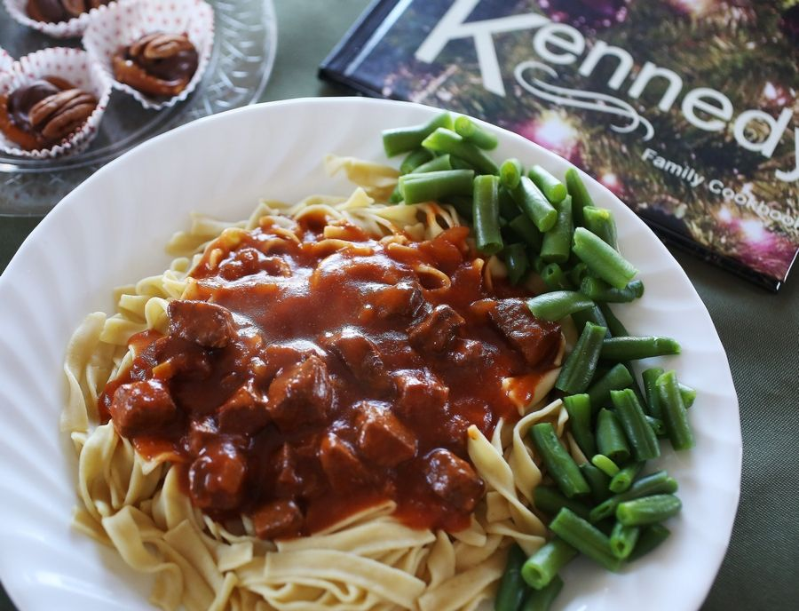 Sharon Kennedy reworked the Betty Crocker recipe for Hungarian goulash into a family dinnertime favorite.