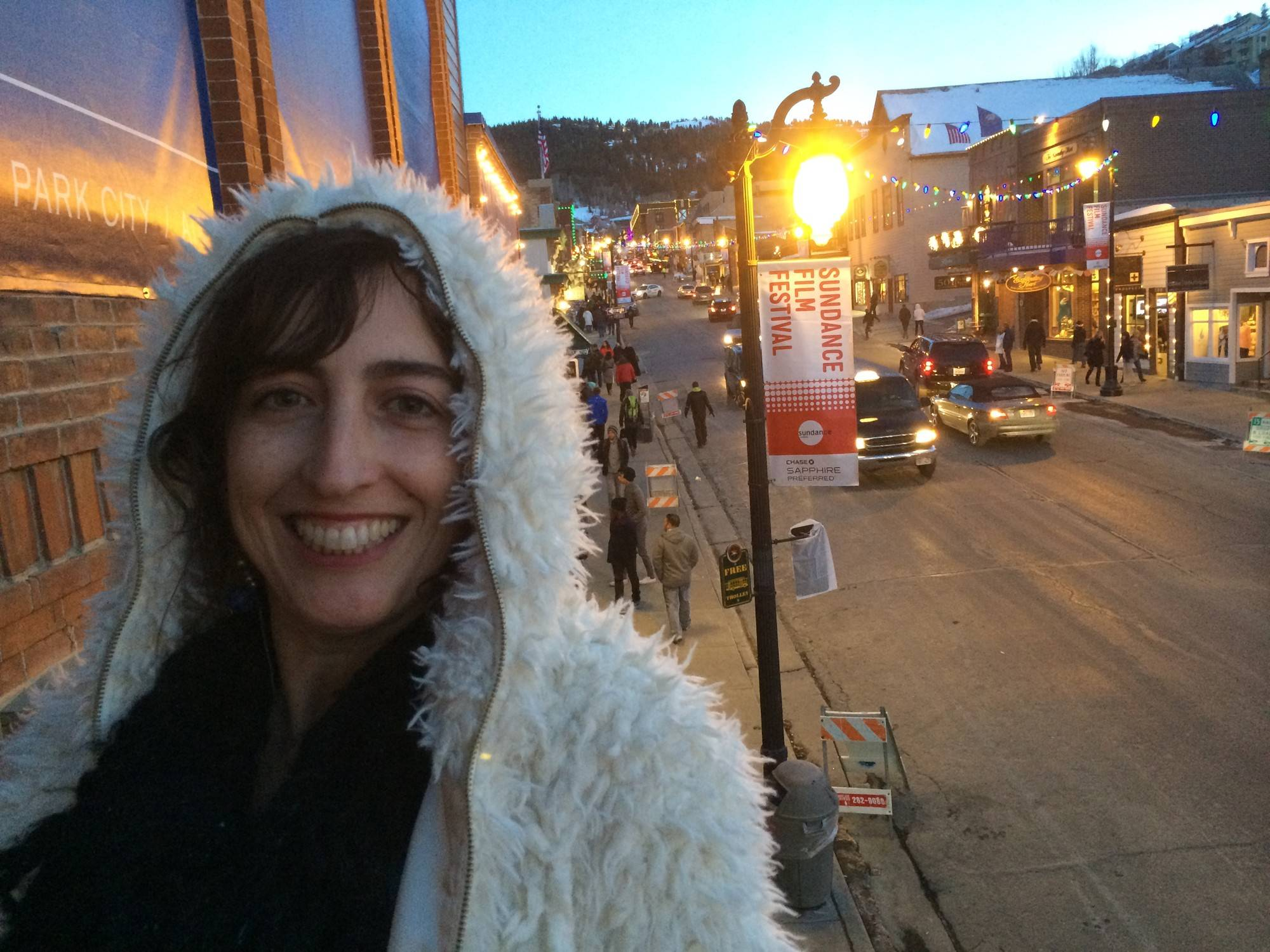 "Glen Ellyn native Caryn Capotosto visits the Sundance Film Festival where the documentary ""20 Feet From Stardom"" premiered in 2013."