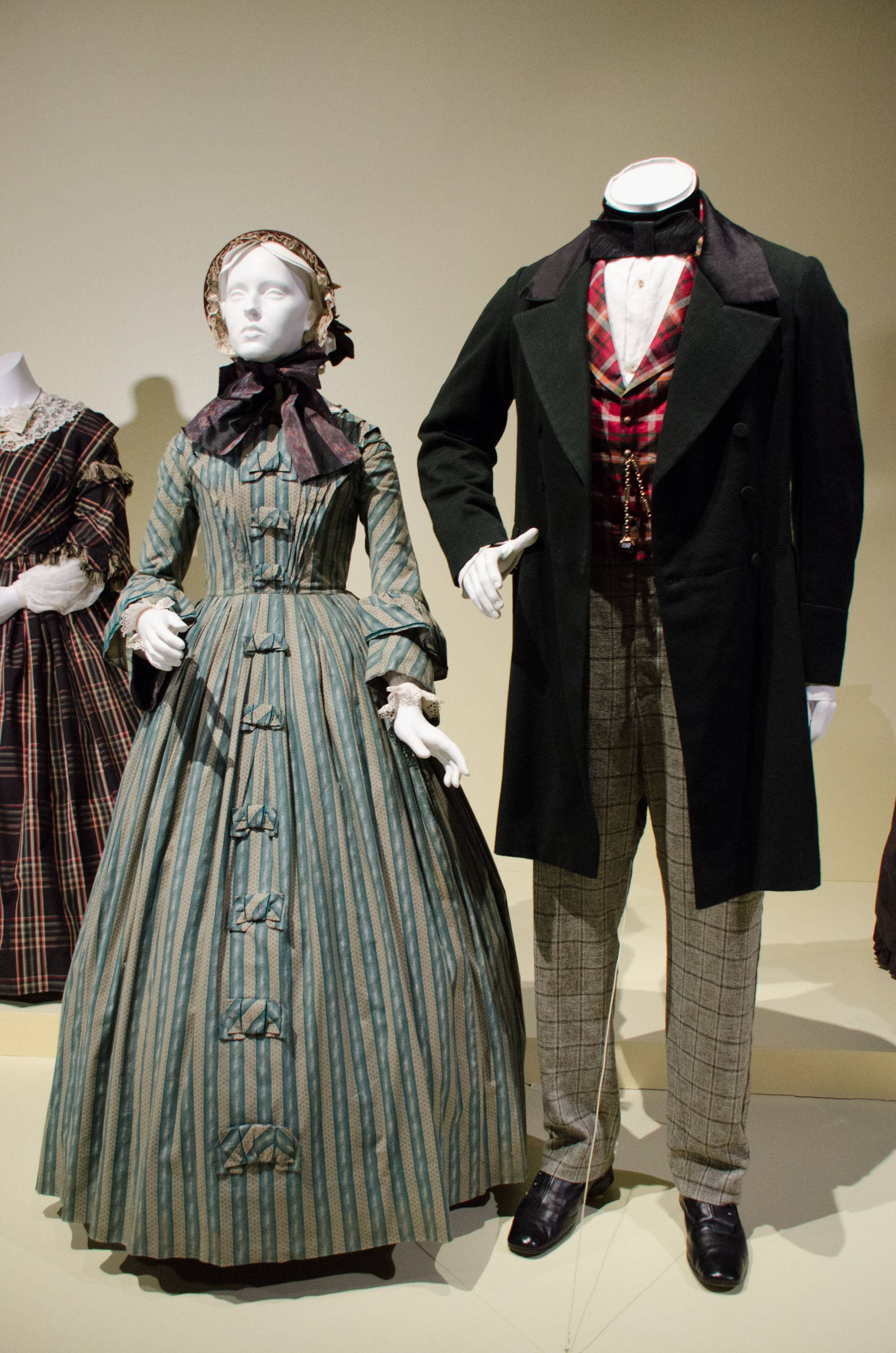 "Oscar-nominated costumes for ""The Invisible Woman"" by costume designer Michael O'Connor are on display at 22nd Annual Art of Motion Picture Costume Design Exhibit."