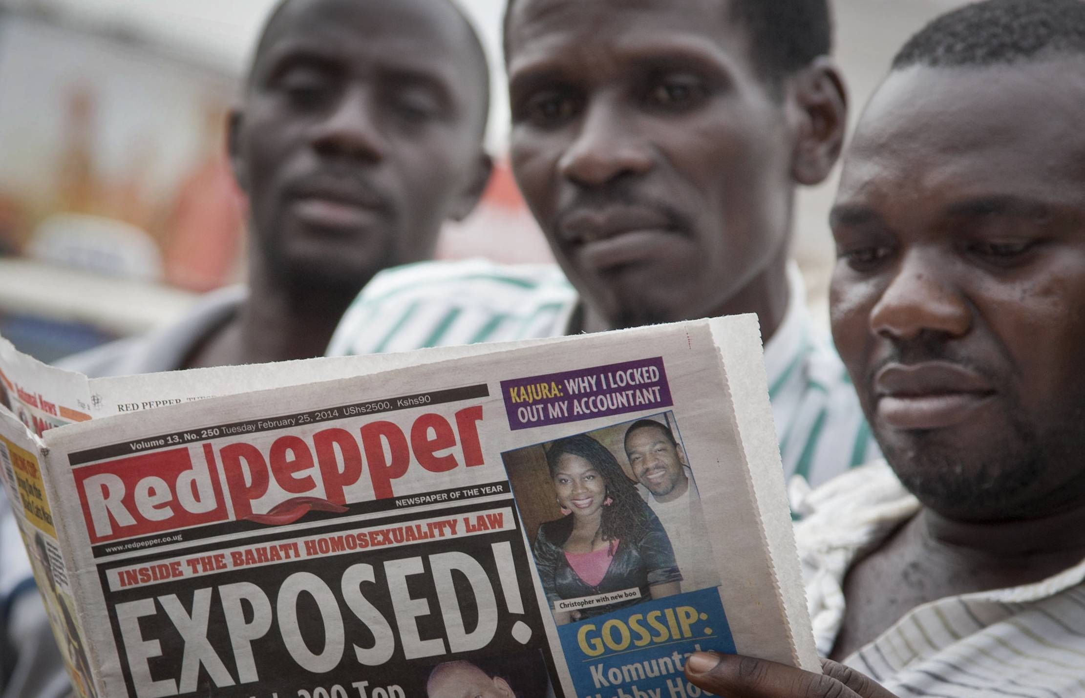"A Ugandan newspaper published a list Tuesday of what it called the country's ""200 top"" homosexuals, outing some Ugandans who previously had not identified themselves as gay, one day after the President Yoweri Museveni enacted a harsh anti-gay law."