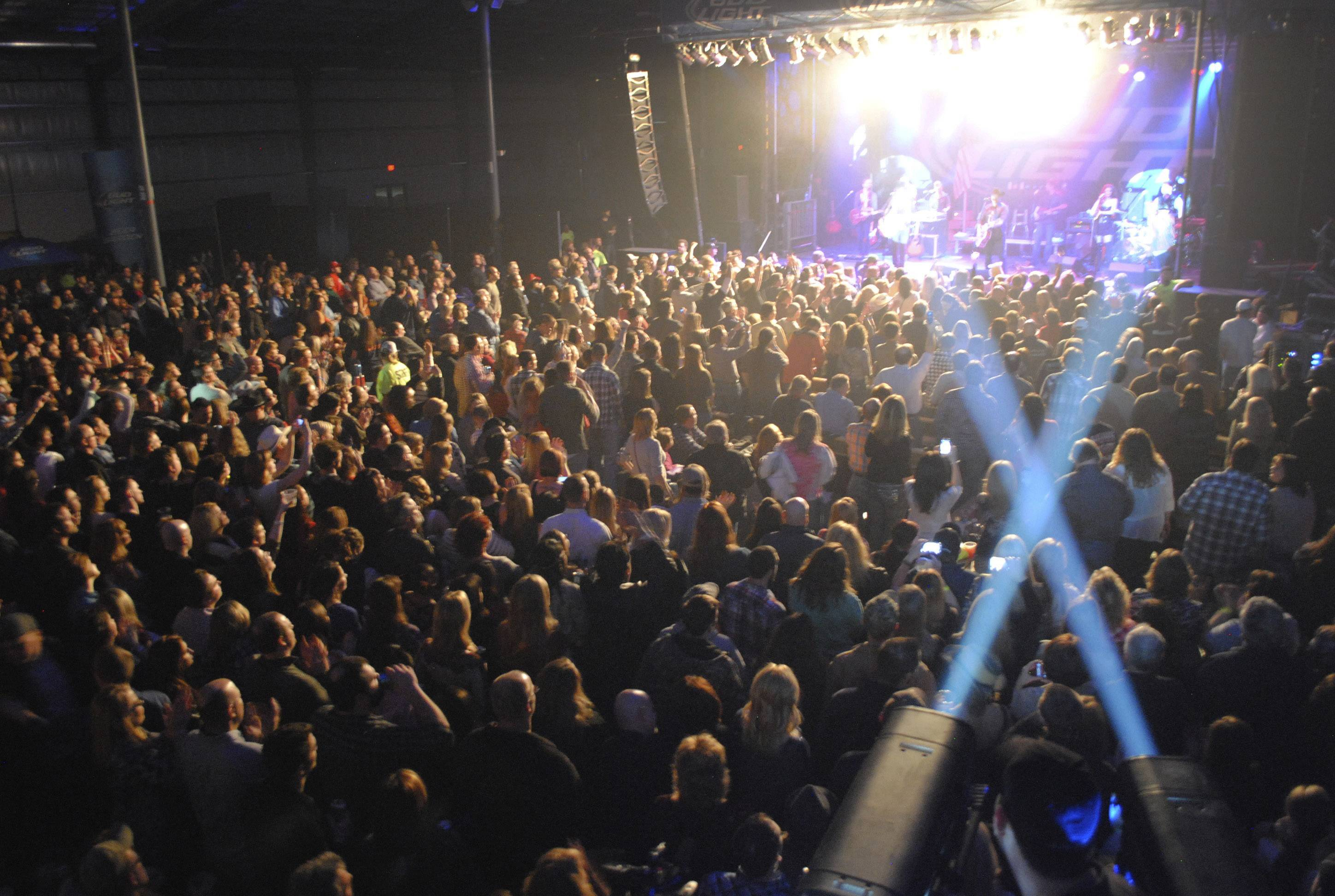 Big & Rich fans enjoy the show this past Saturday at Austin's Fuel Arena at the Lake County Fairgrounds in Grayslake.