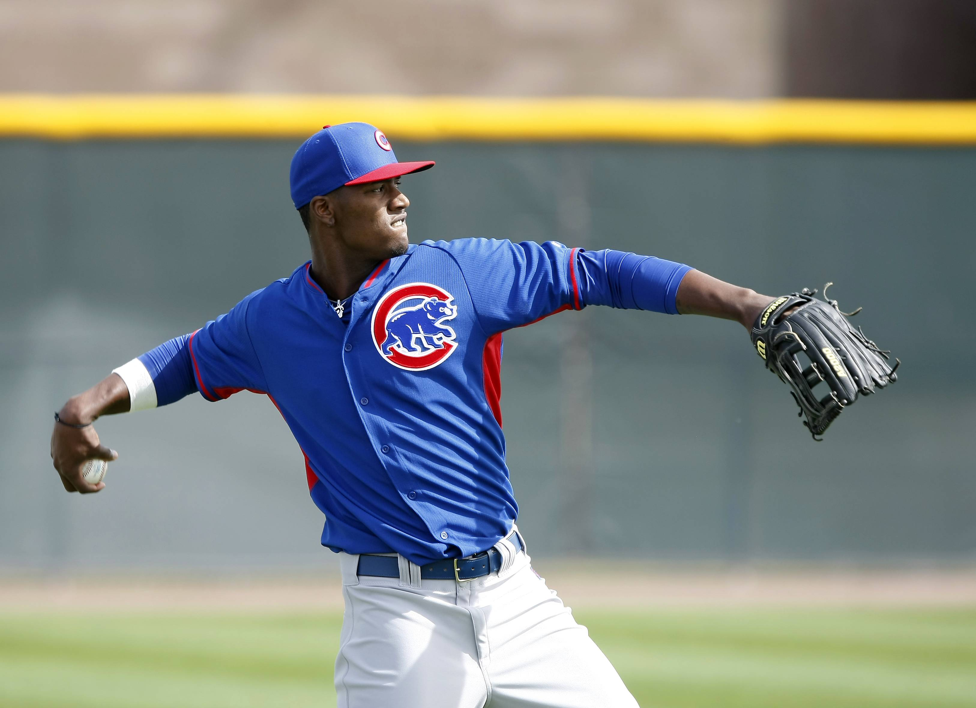 Junior Lake made a solid impression last season and should start in left field for the Cubs this season.