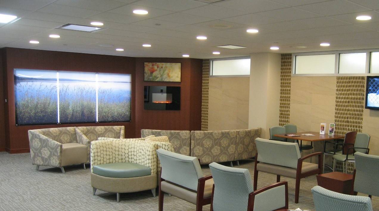 The renovated waiting room at the radiation oncology department at Northwest Community Hospital in Arlington Heights was part of a $1.9 million upgrade funded completely by donations. The upgrades also include new technology doctors hope will help save lives.