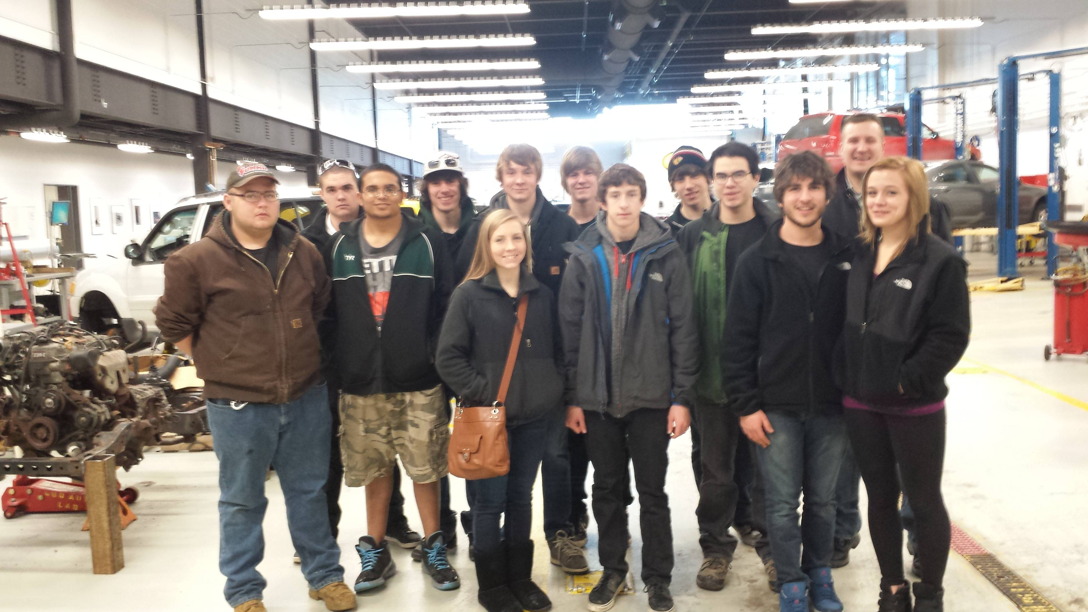 Pictured are District 214 students qualified to compete in the 2014 SkillsUSA Championships for Skill and Leadership.