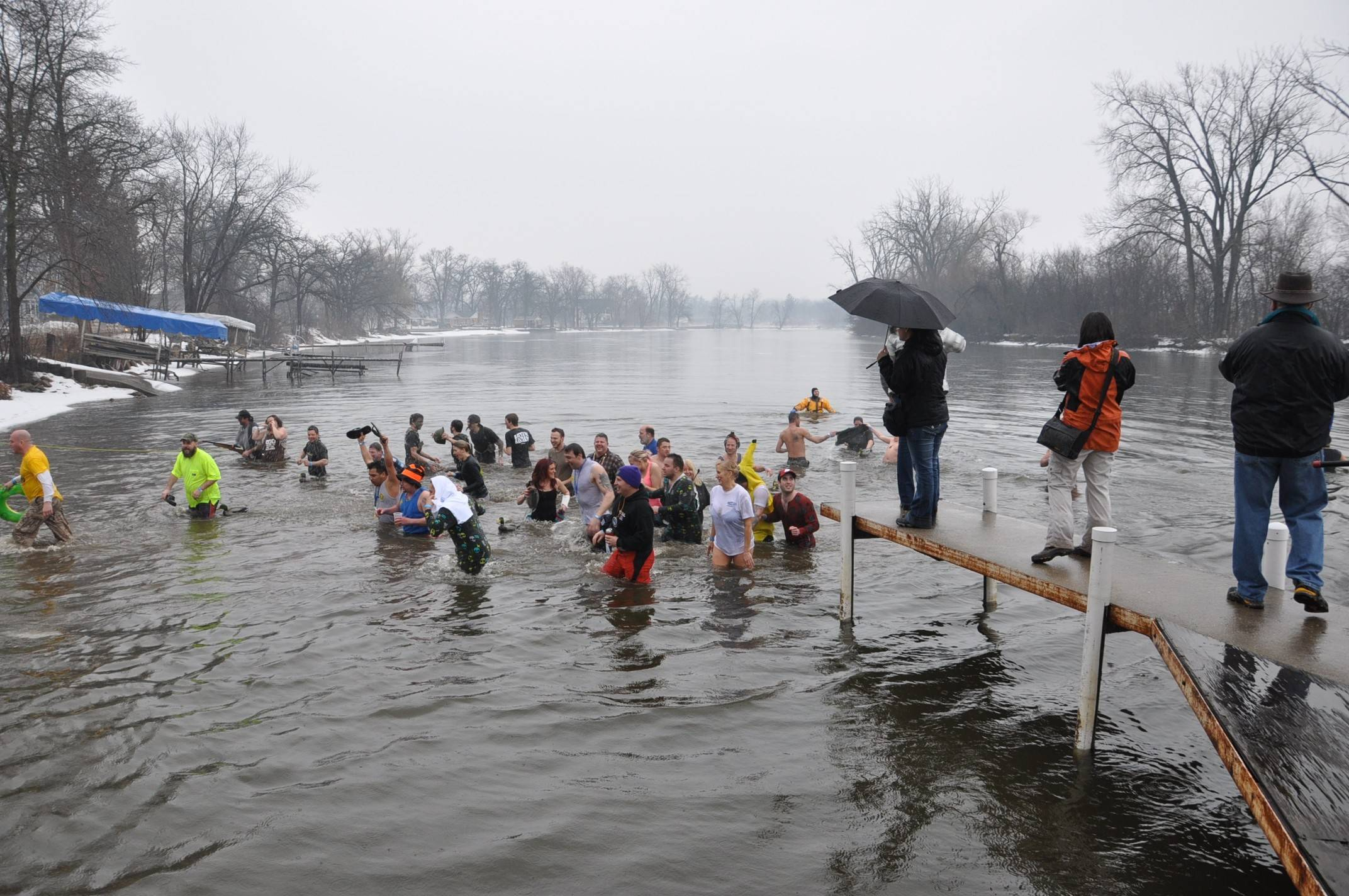 Participants of last year's Fox River Shiver brave the icy waters of the Fox River to raise funds for Ann and Robert H. Lurie Children's Hospital of Chicago.